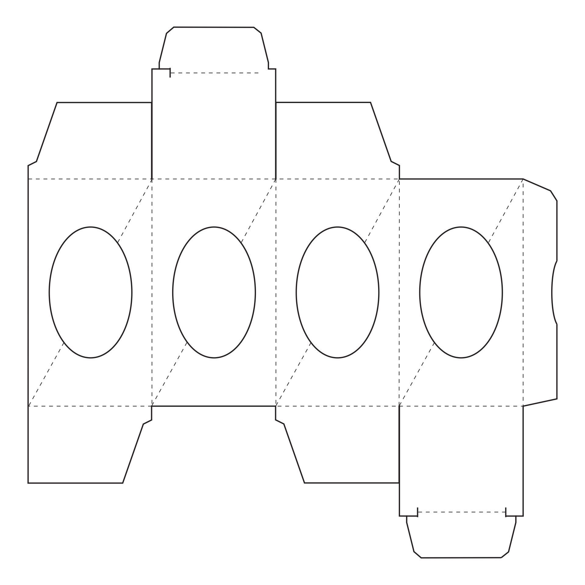 Rectangular Box Pattern Printable