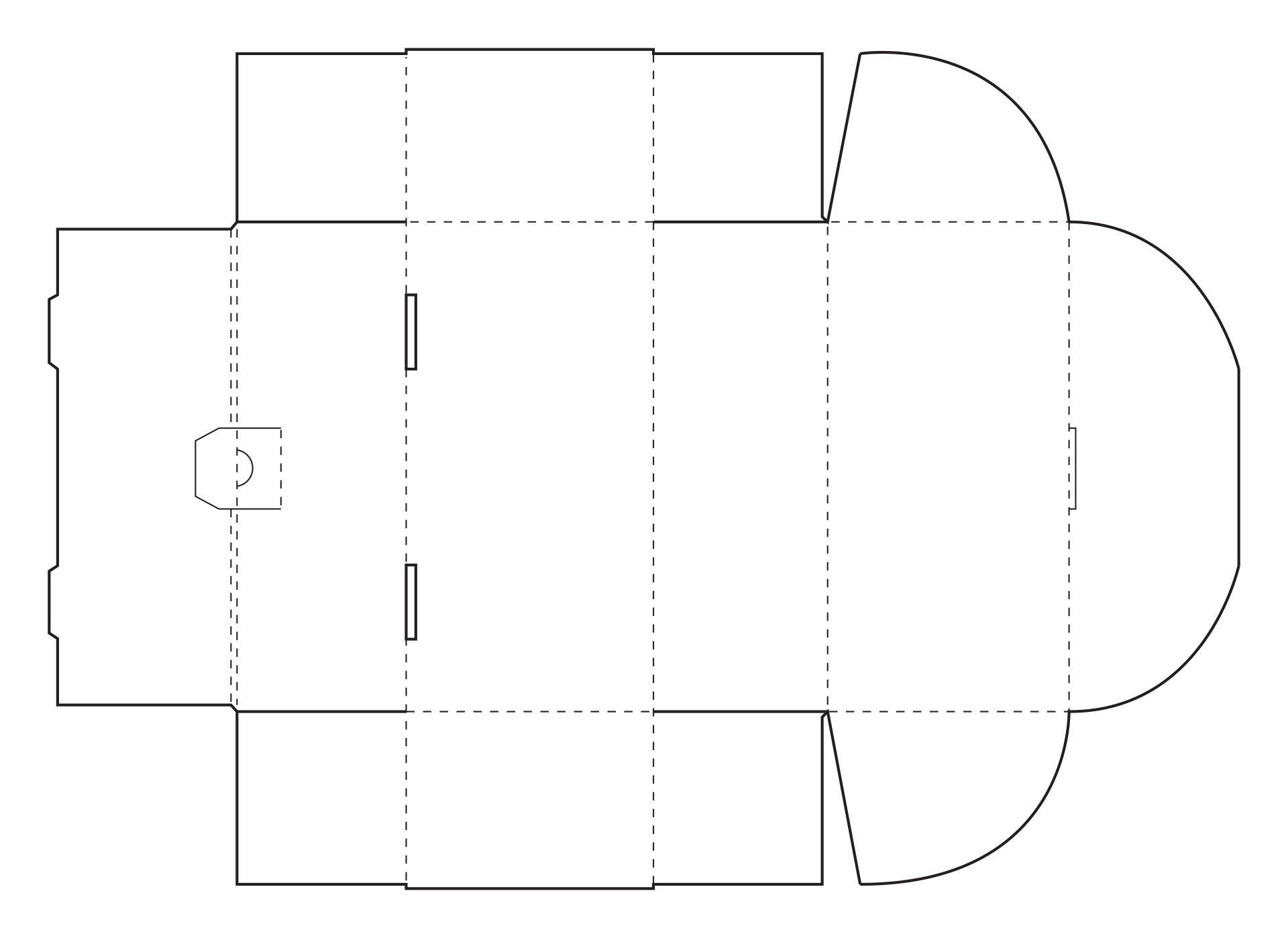 Rectangular Box Template With Lid Printable