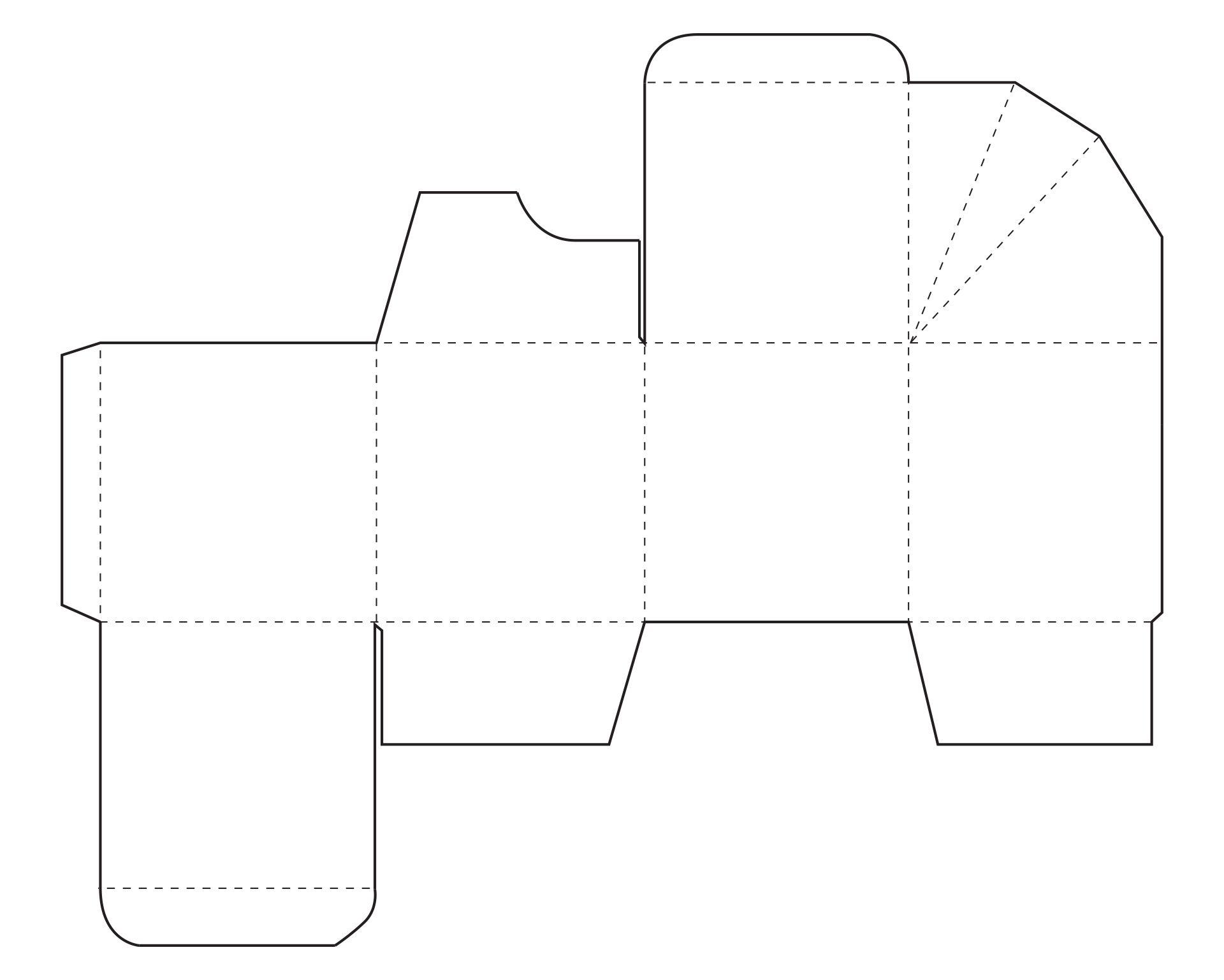Rectangular Box Templates Free Download Printable