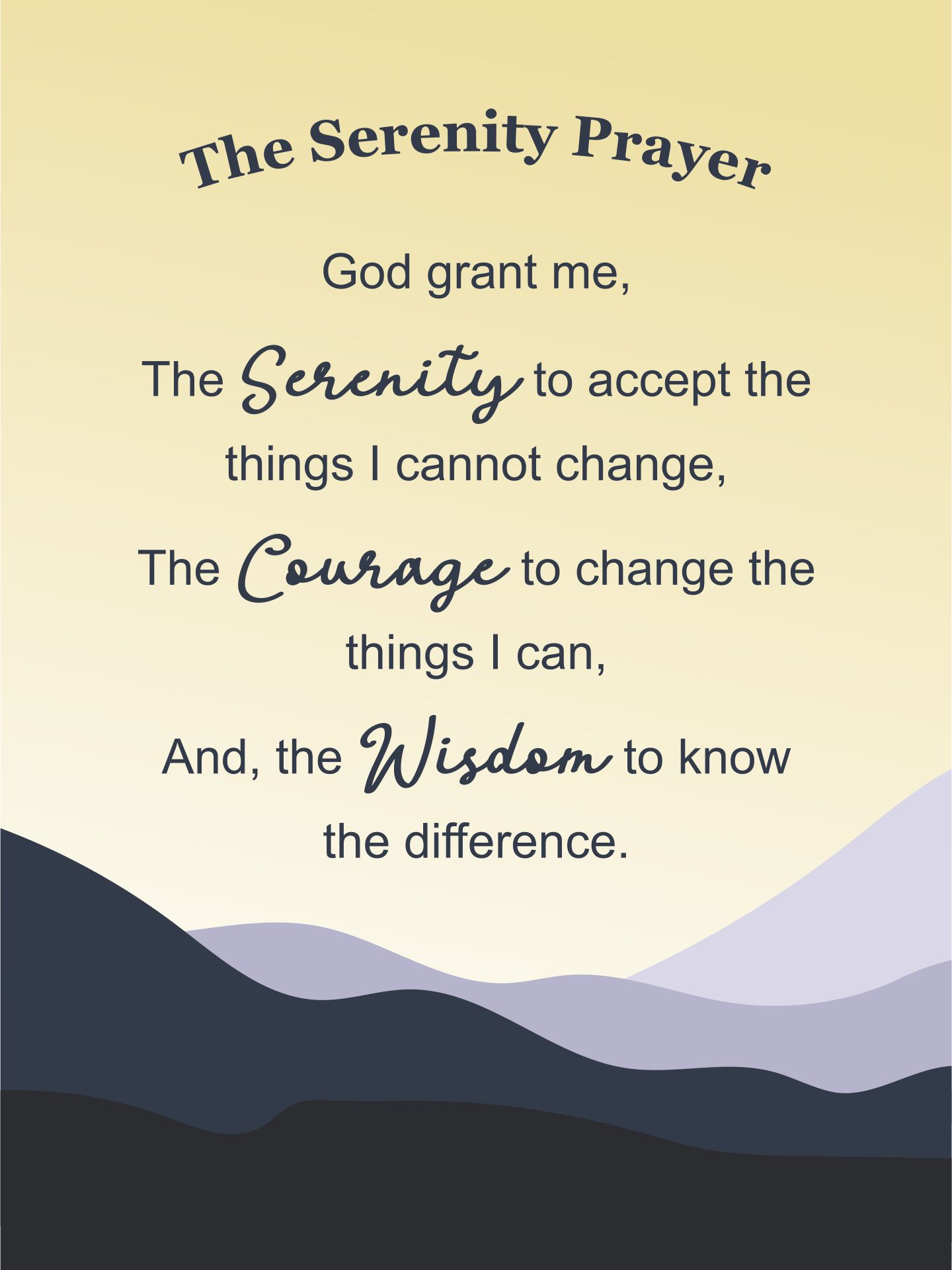 The Serenity Prayer In The Bible