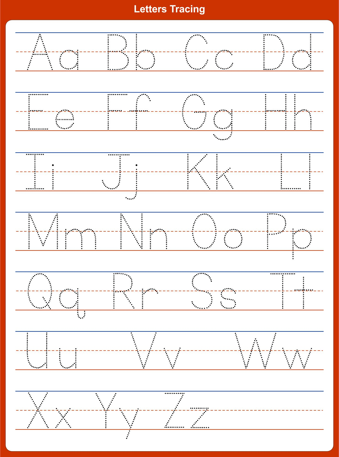 Tracing Letters Free Printables