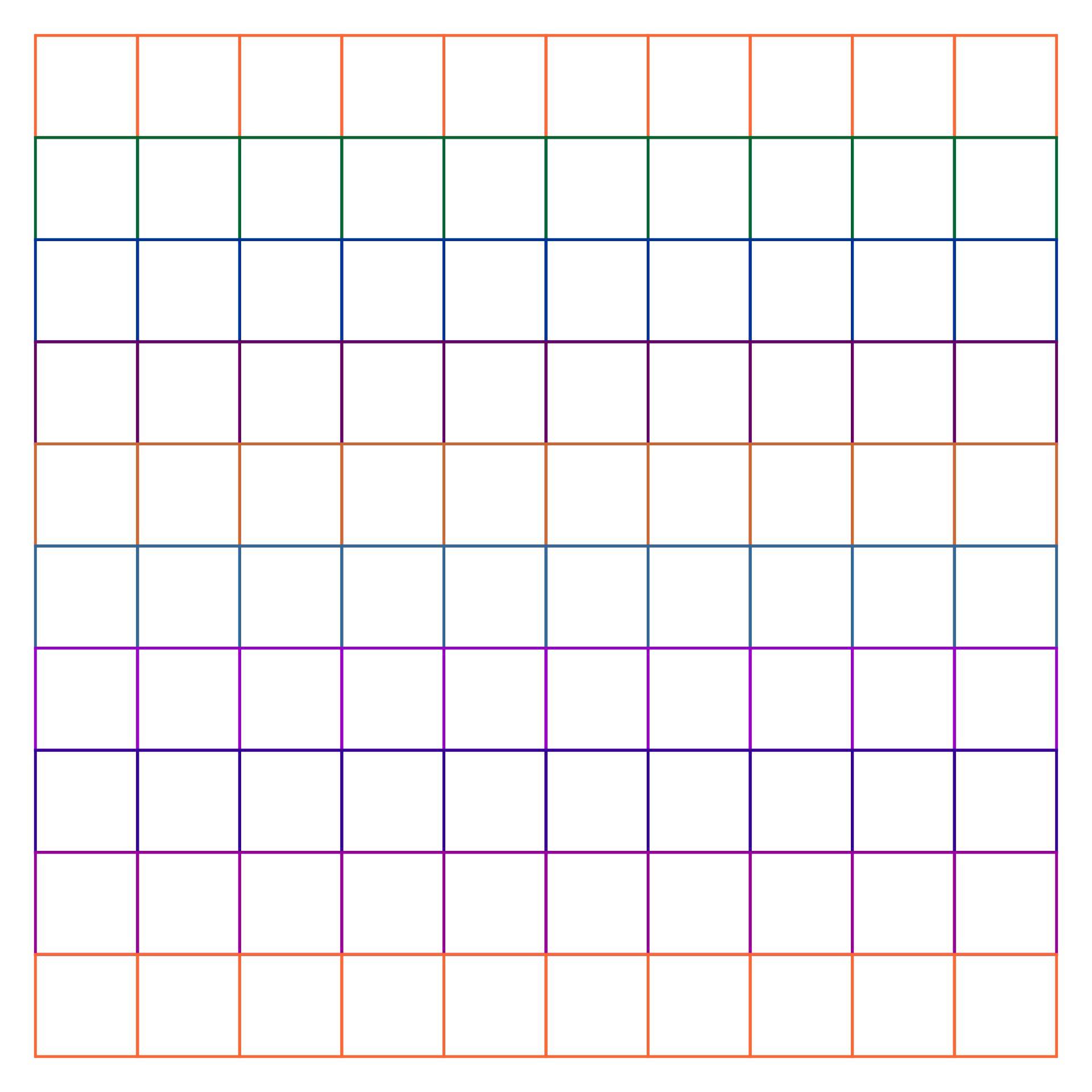 10x10 Square Grid Printable