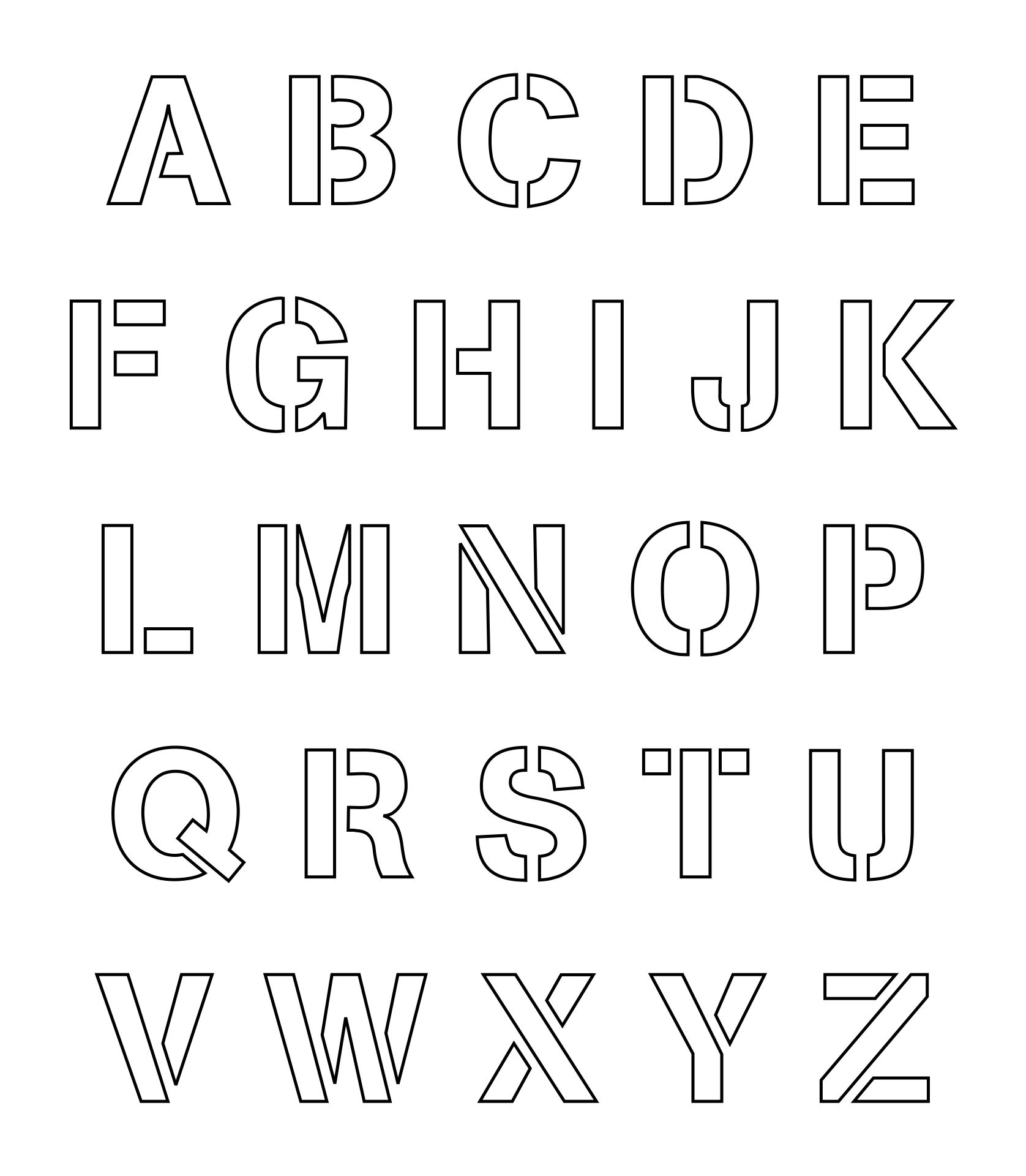 2 Inch Letter Stencils Printable Free