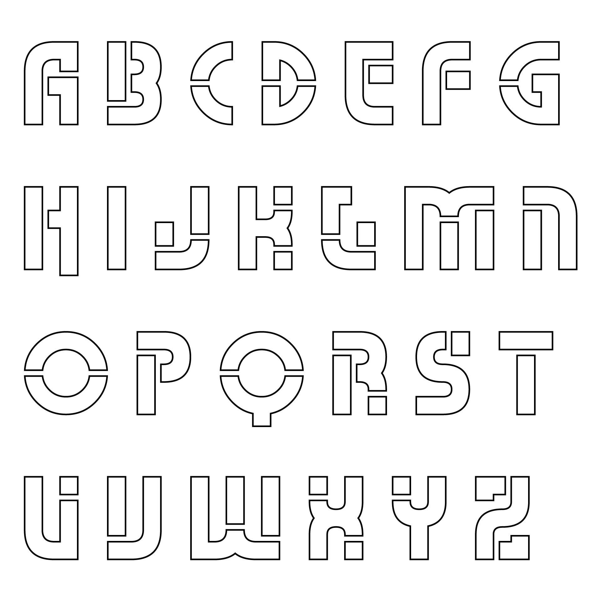 3 Inch Alphabet Stencils Free Printable