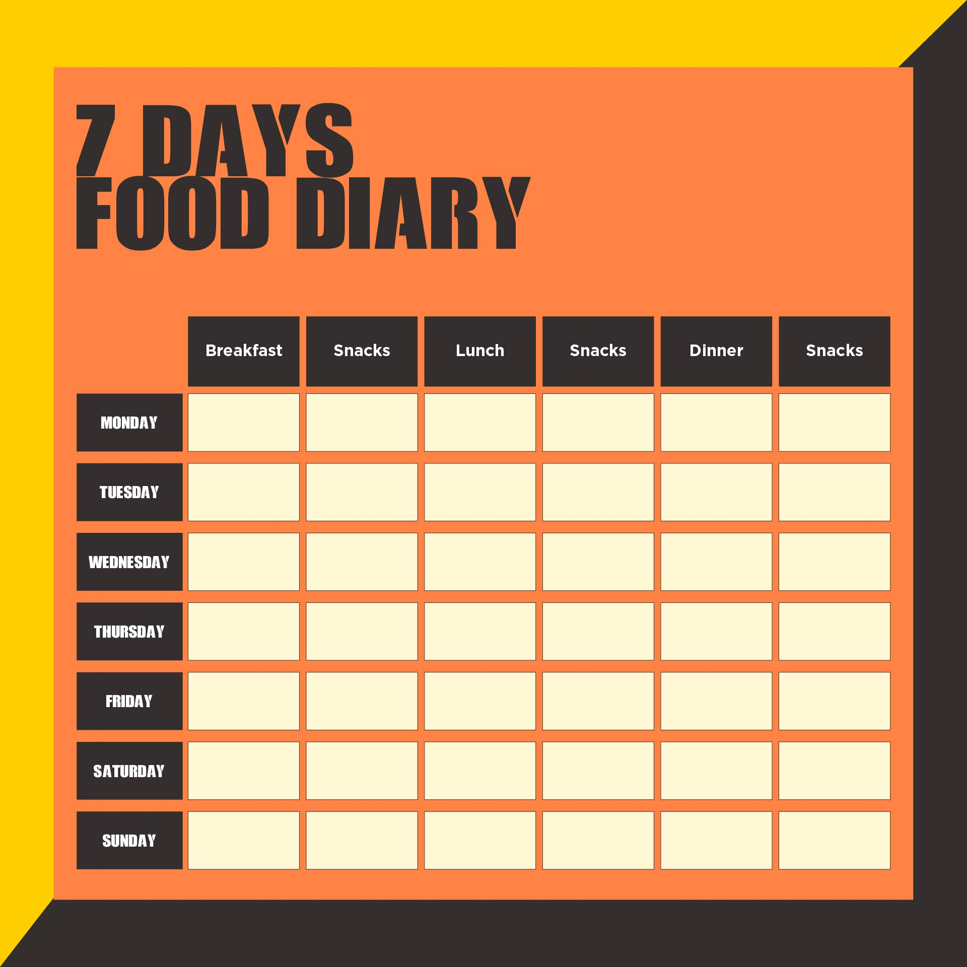 7 Day Food Diary Pdf