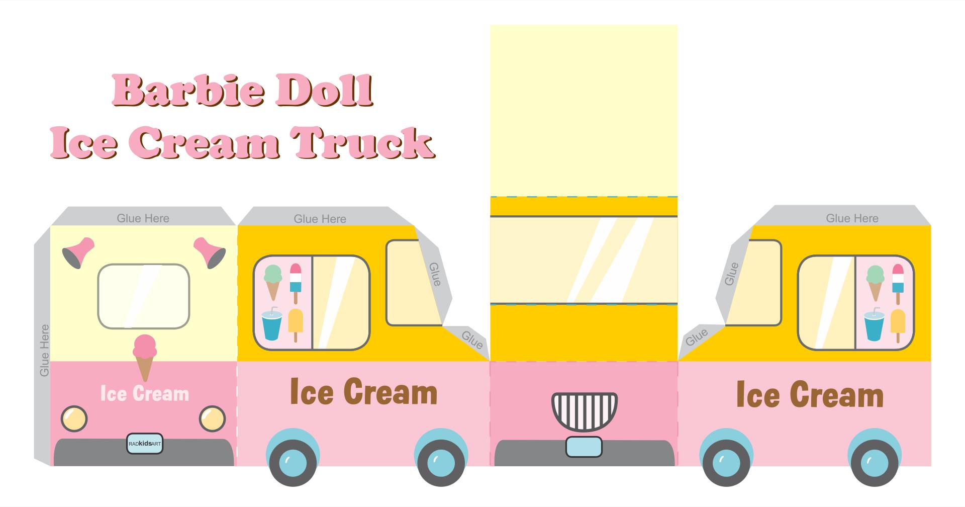 Barbie Doll Food Truck Printables