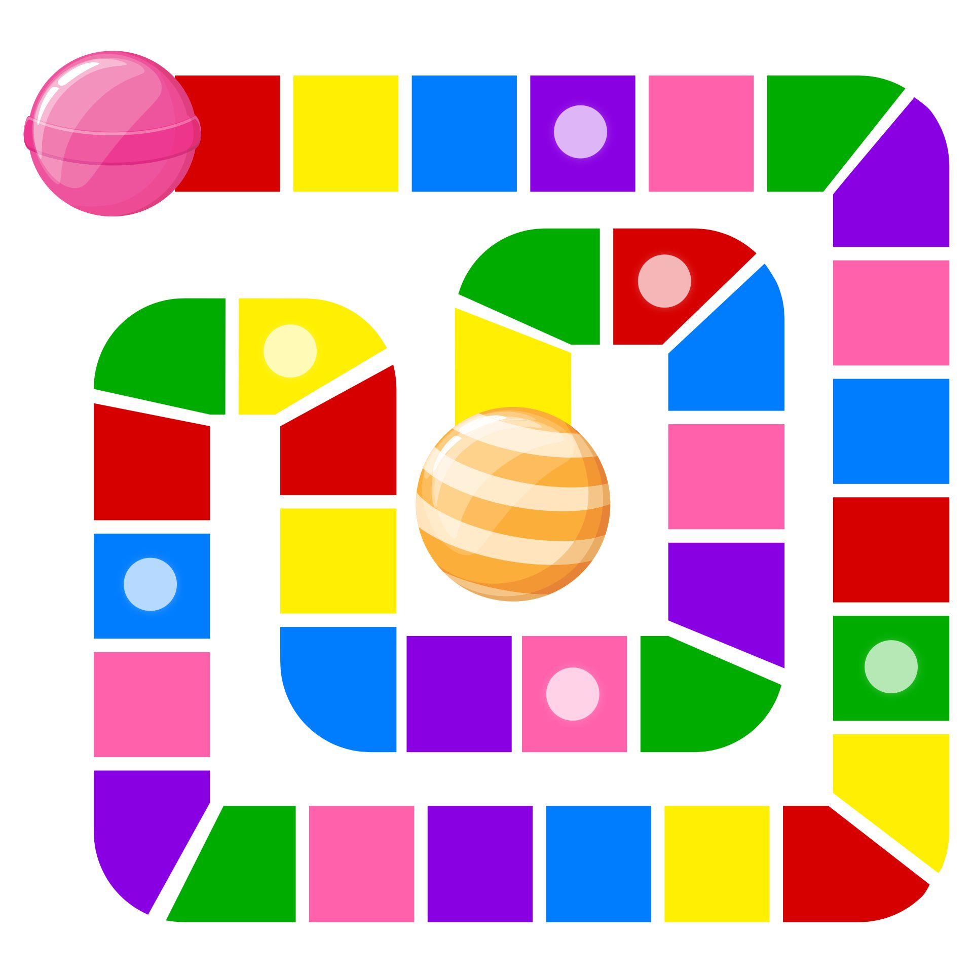 Blank Candyland Game Board