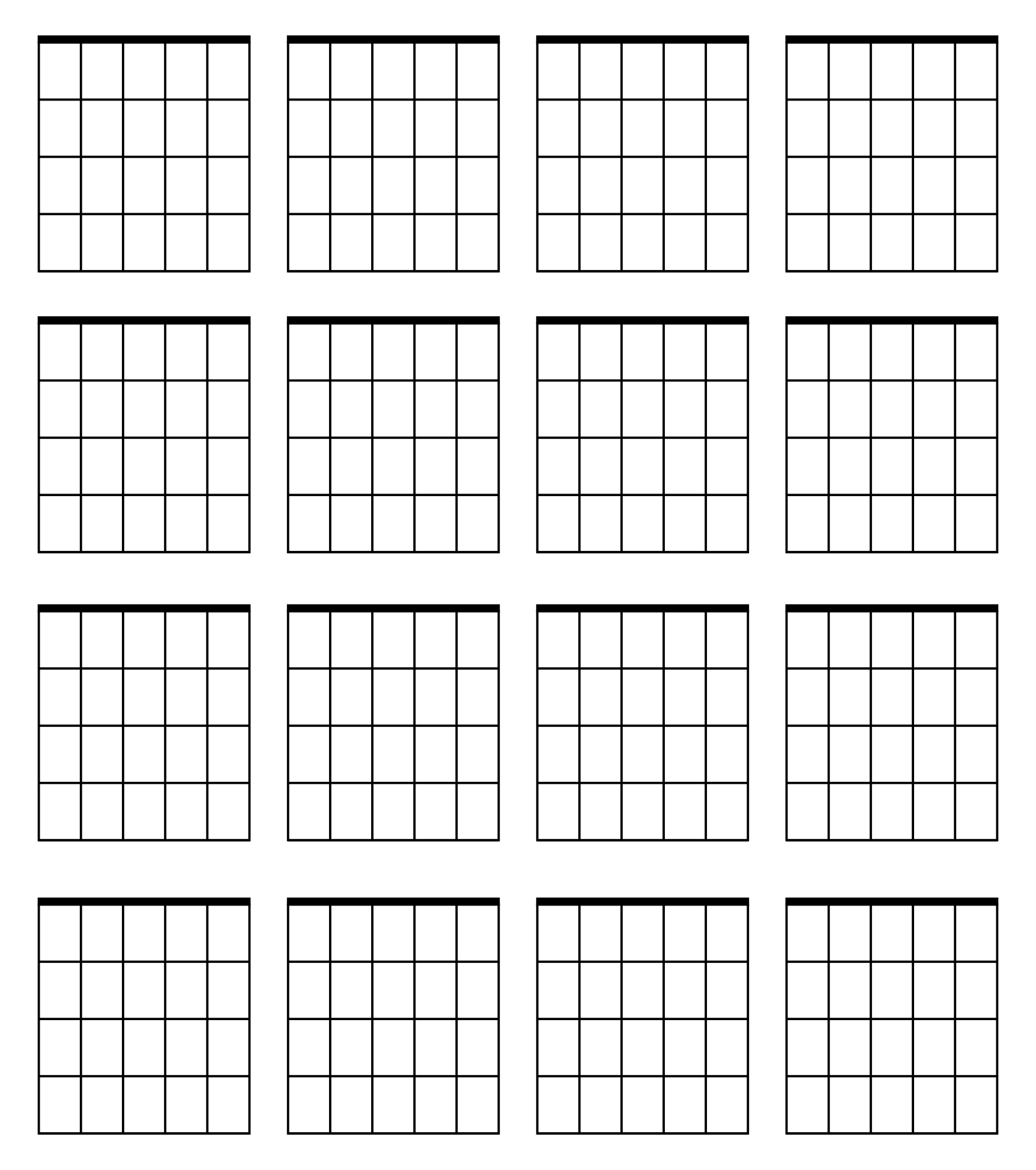 Blank Guitar Note Sheets