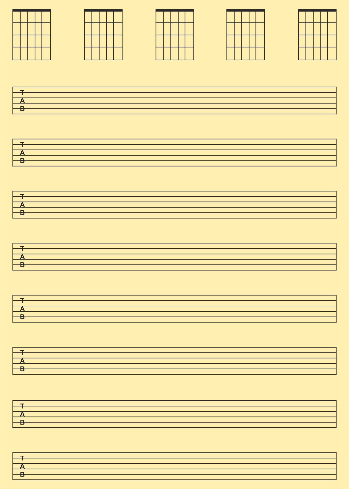Blank Music Sheets For Guitar