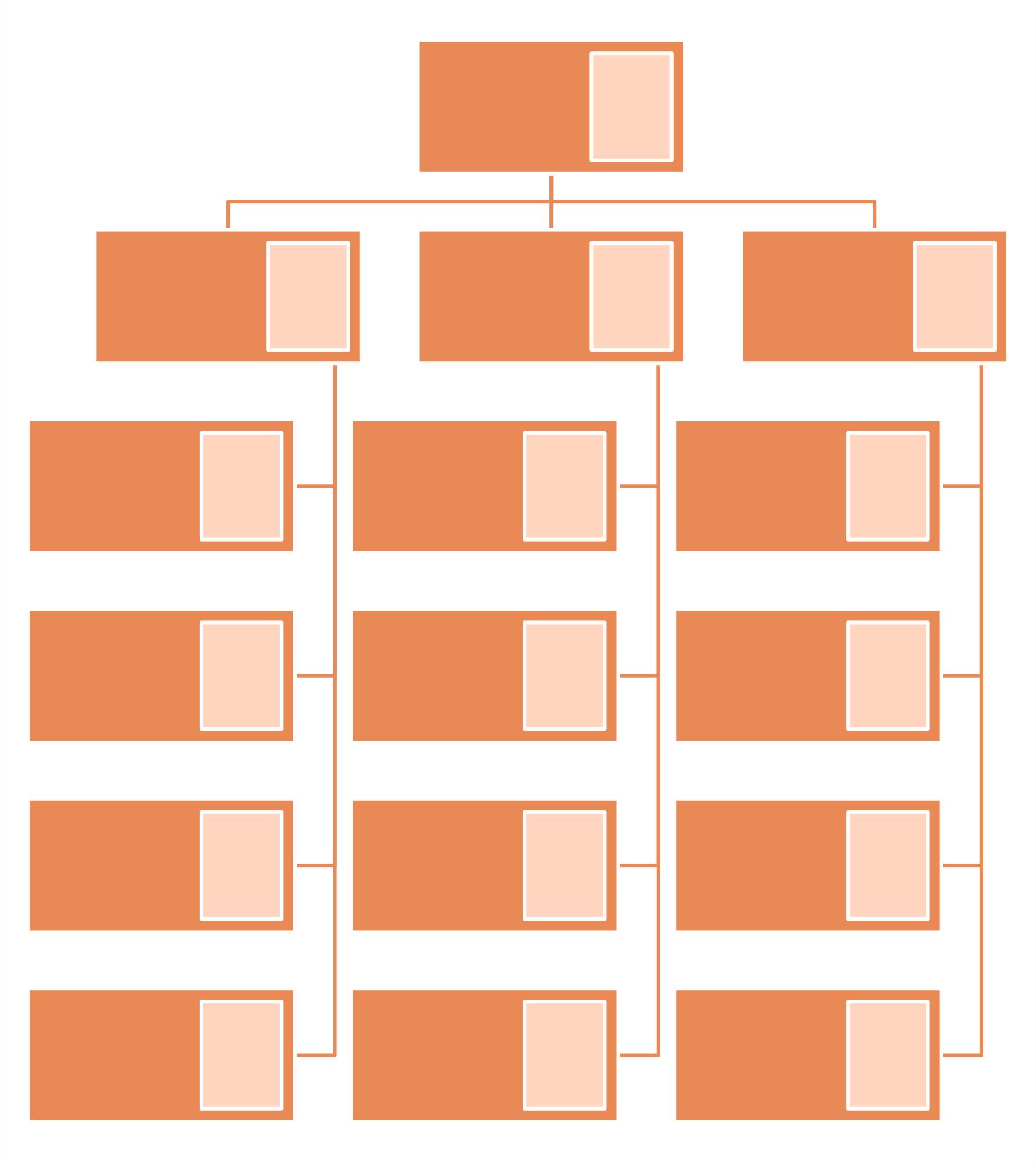 Blank Organizational Chart Template Printable