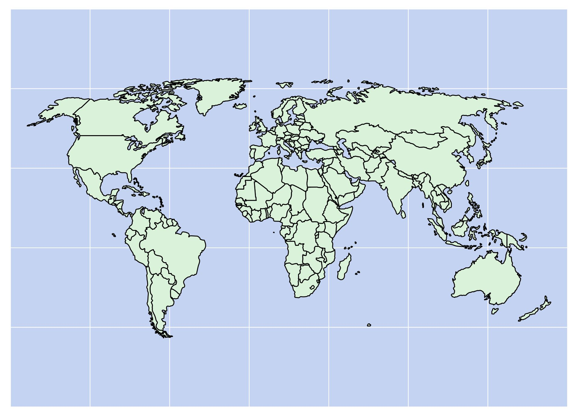 Blank World Map With Countries