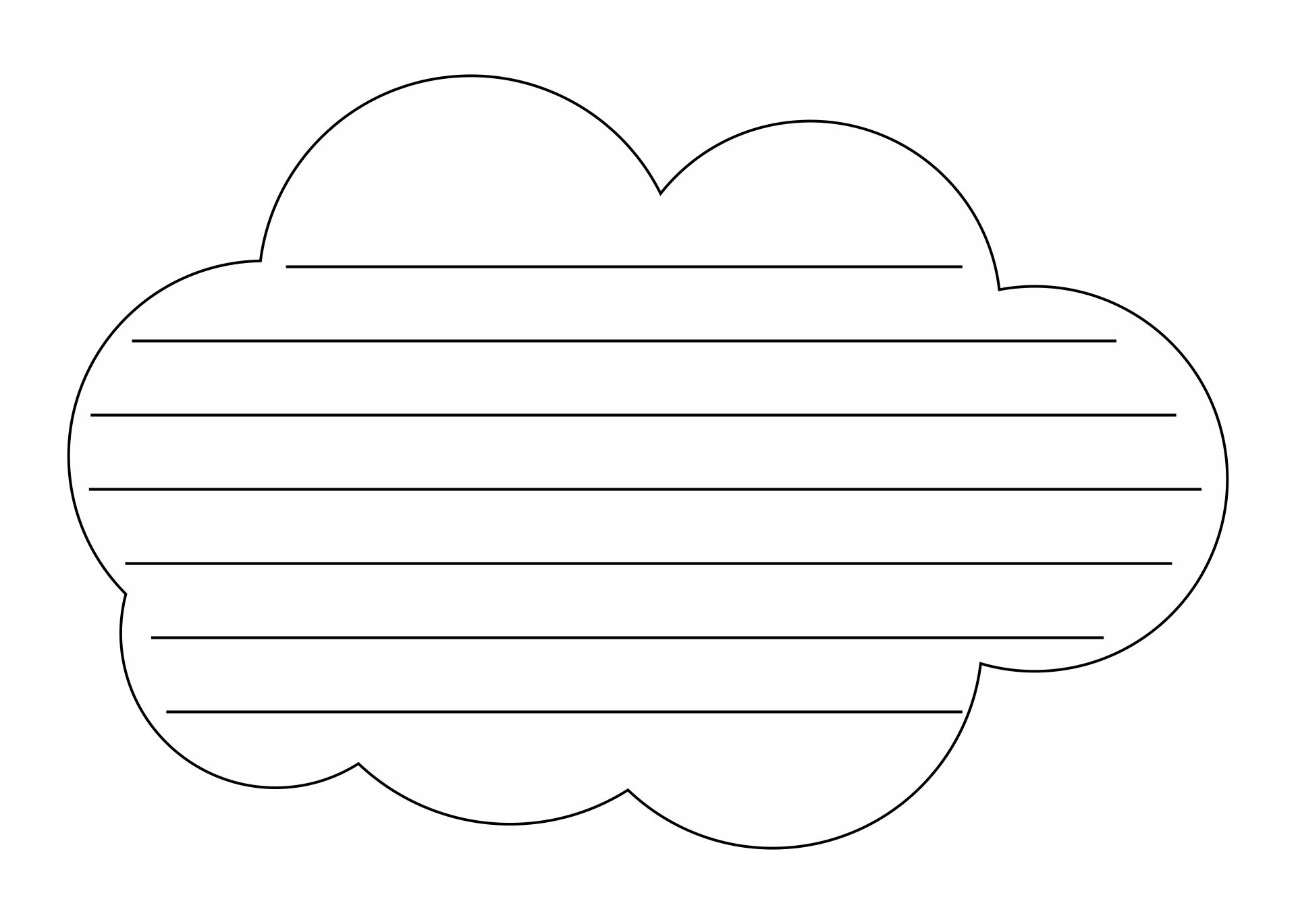 Cloud Template With Lines