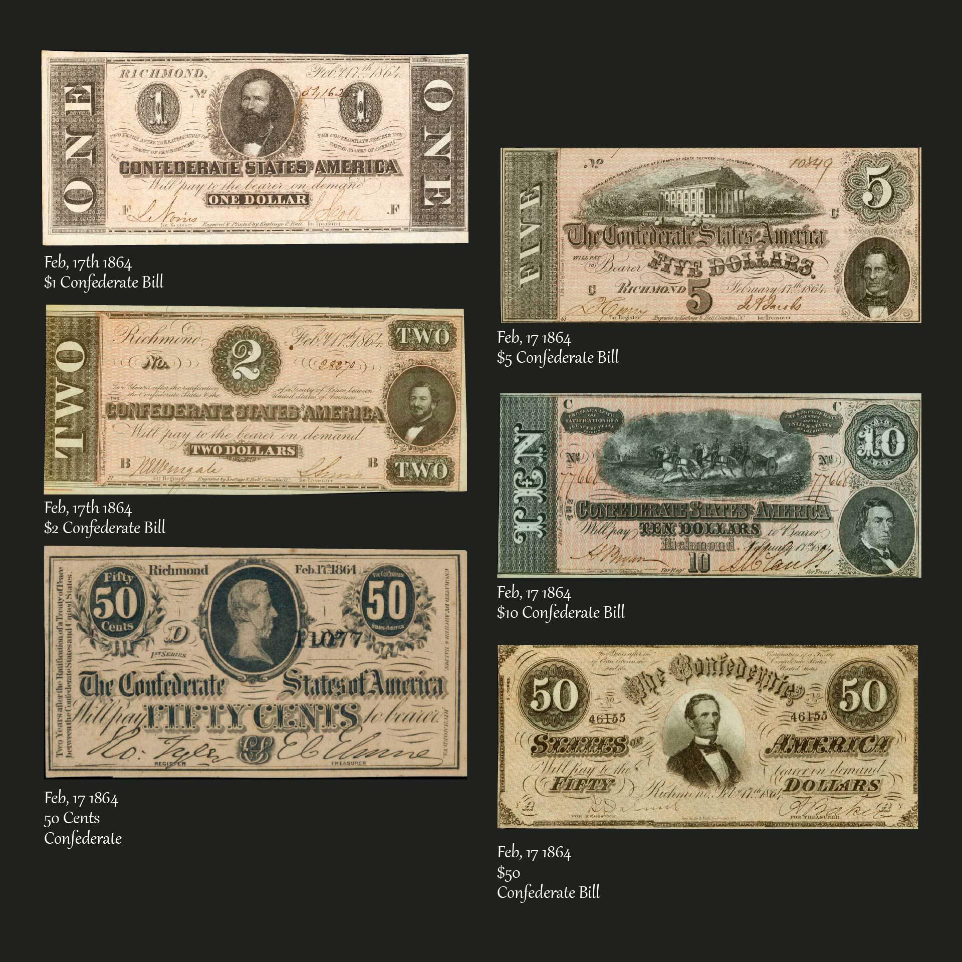 Confederate Money Value Chart