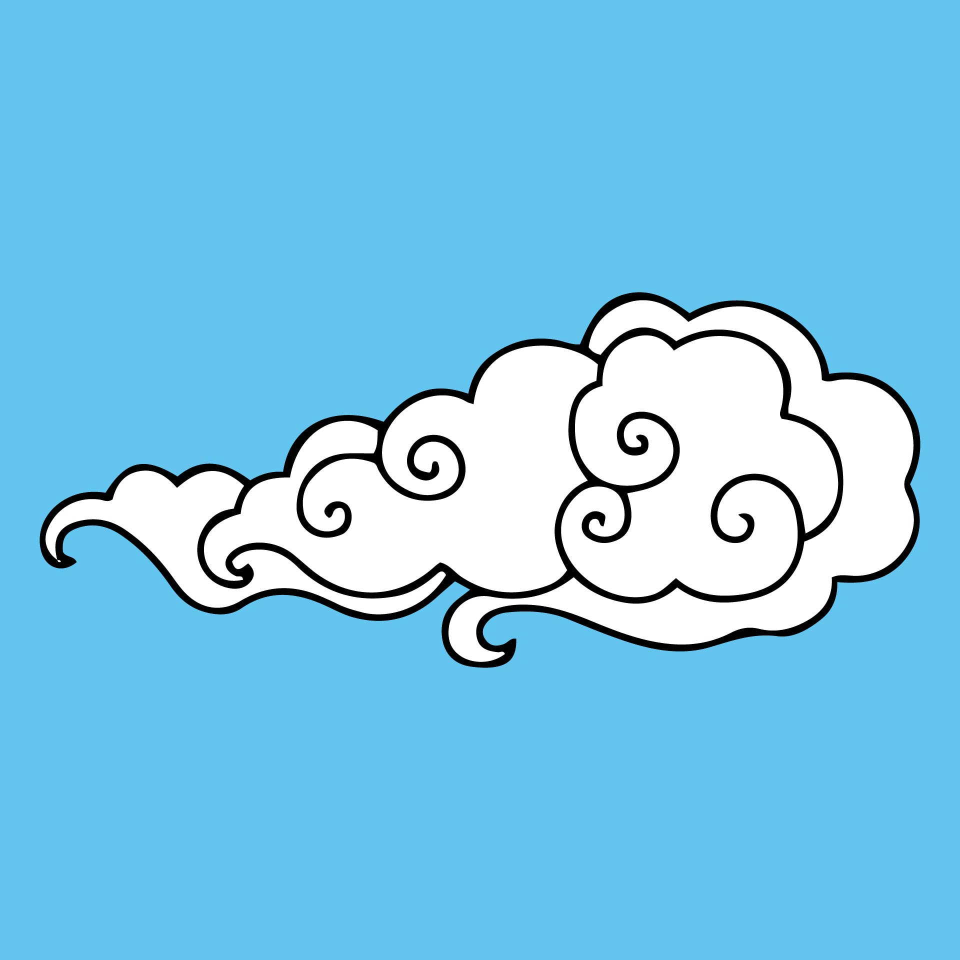 Cut Out Printable Cloud Template