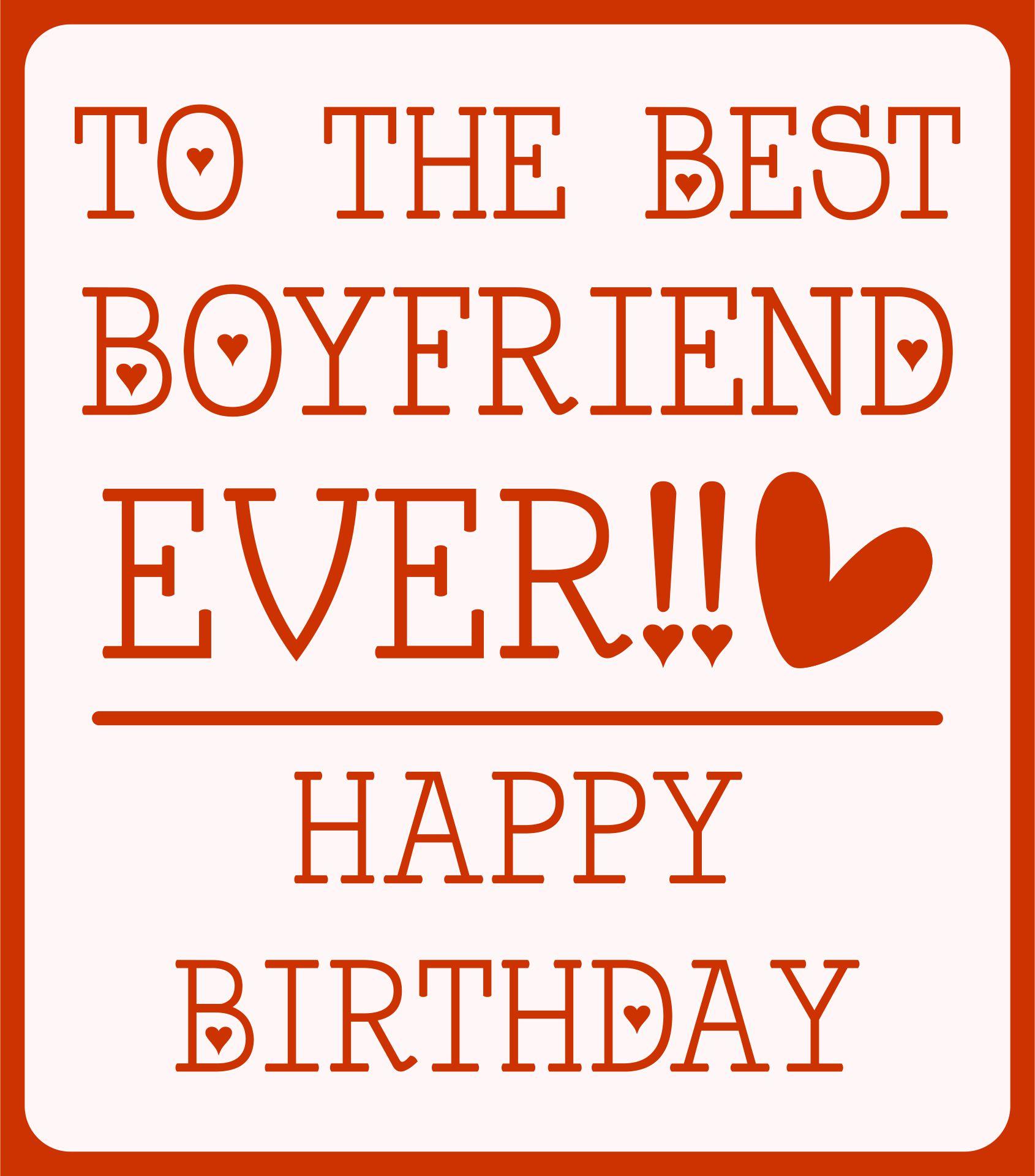 Cute Birthday Cards For Boyfriend