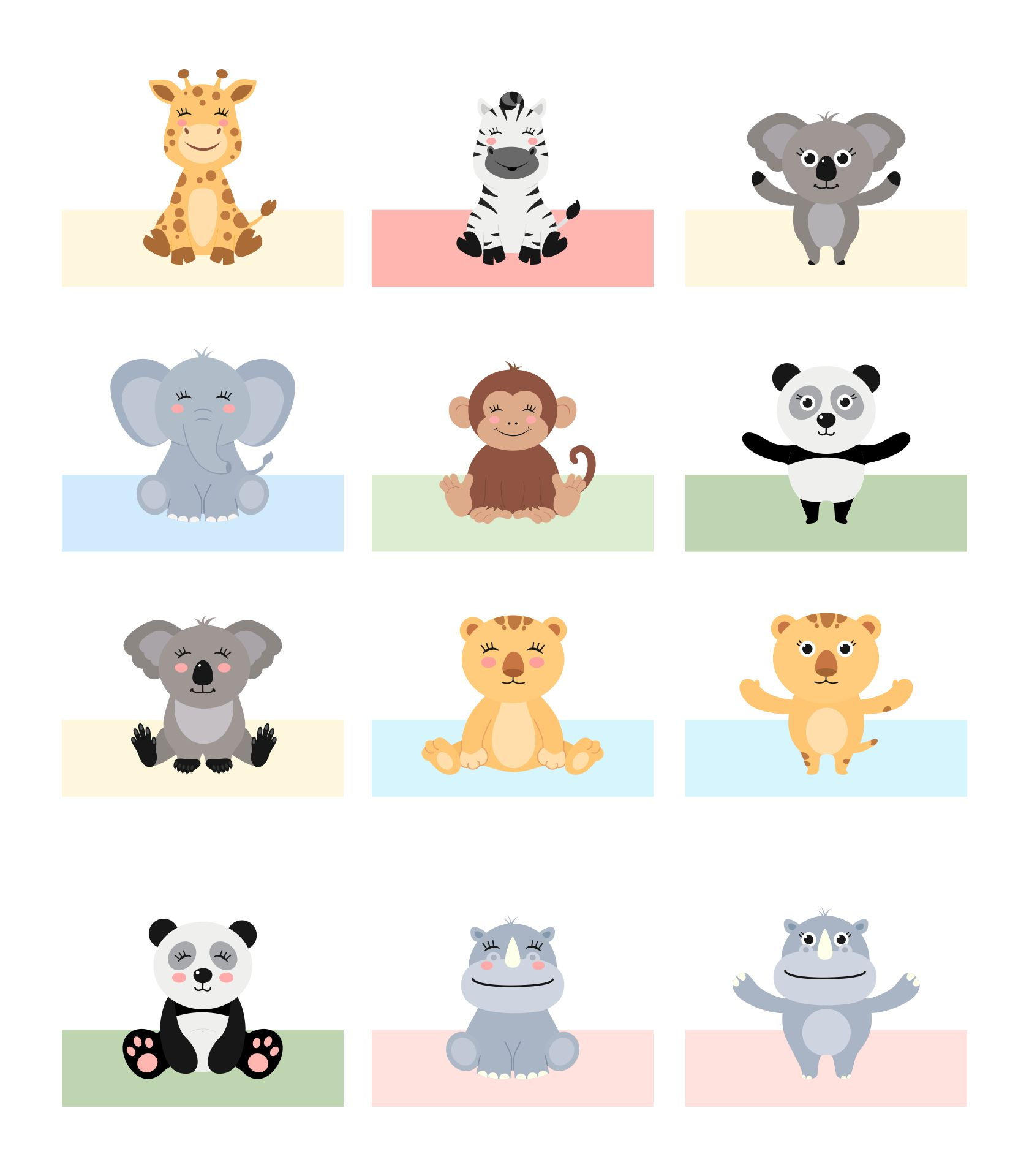 Dear Zoo Finger Puppets Printable