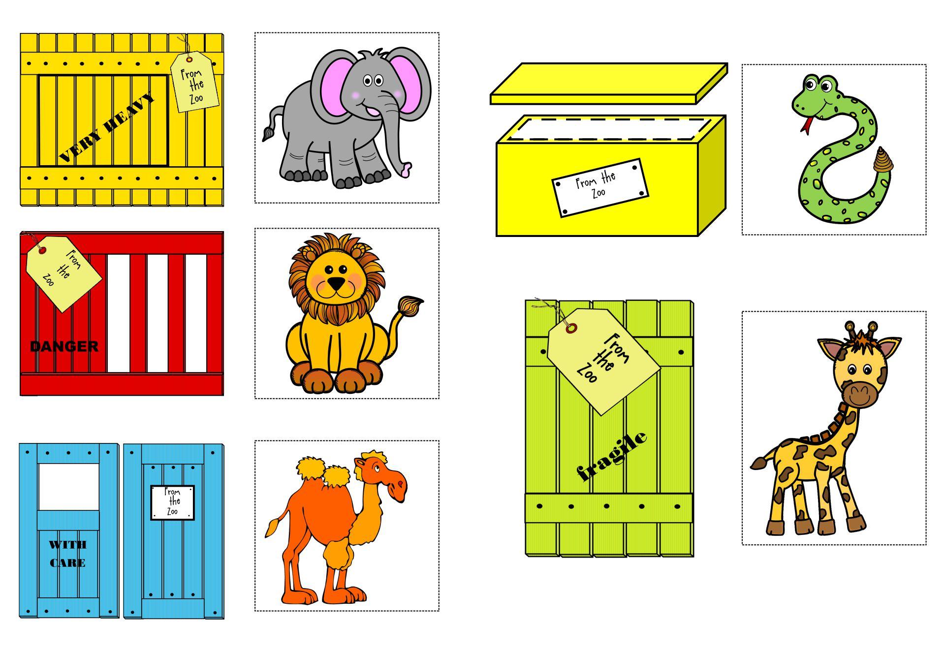 Dear Zoo Flap Book Printable