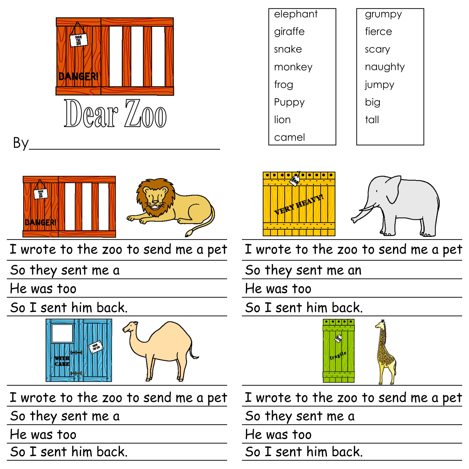 Dear Zoo Story Sequencing Printables