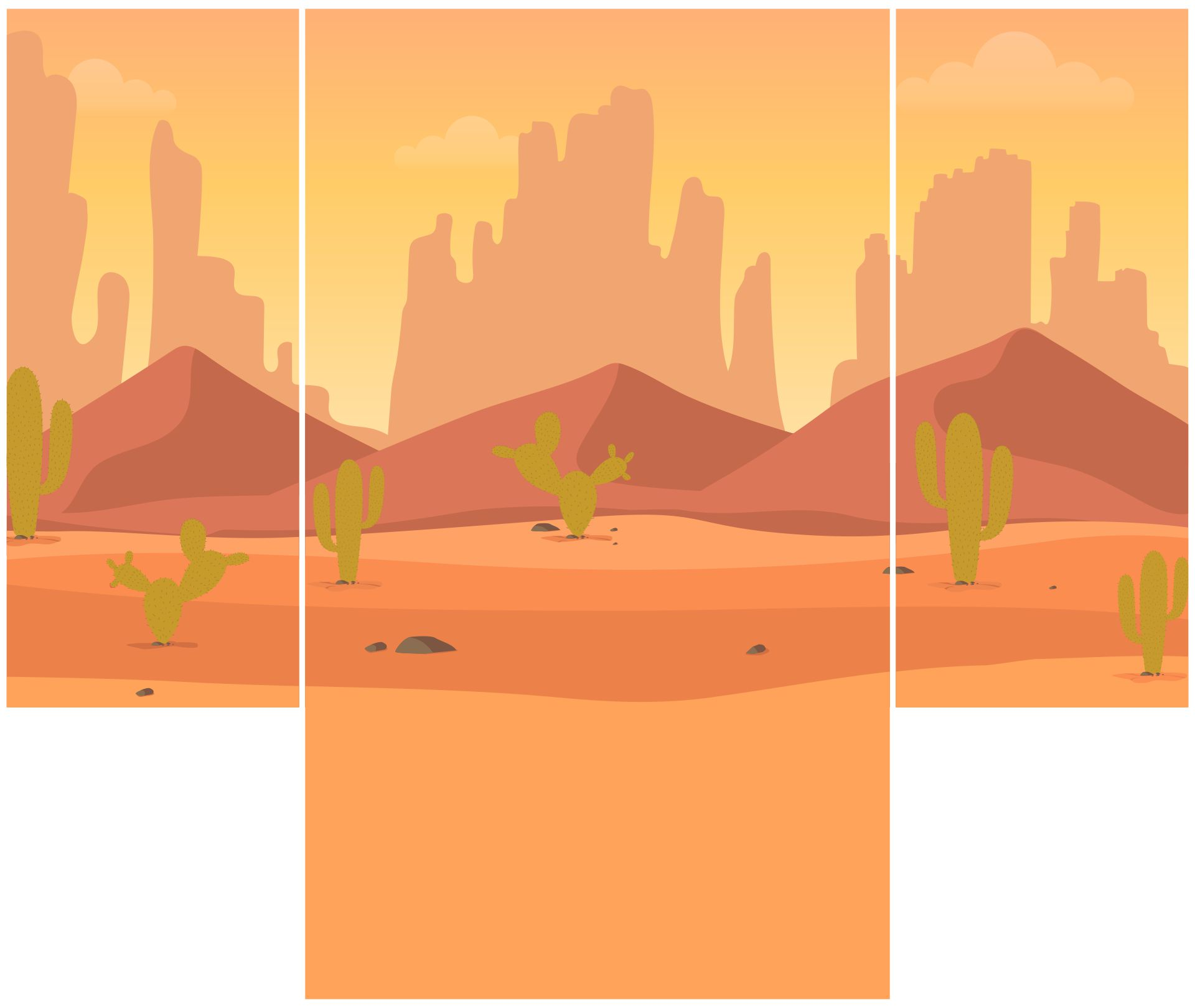 Desert Diorama Background Printable