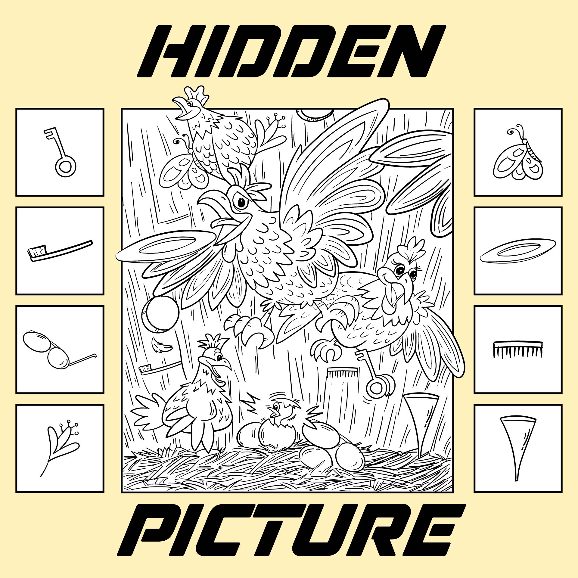 Easy Hidden Pictures Free Printable