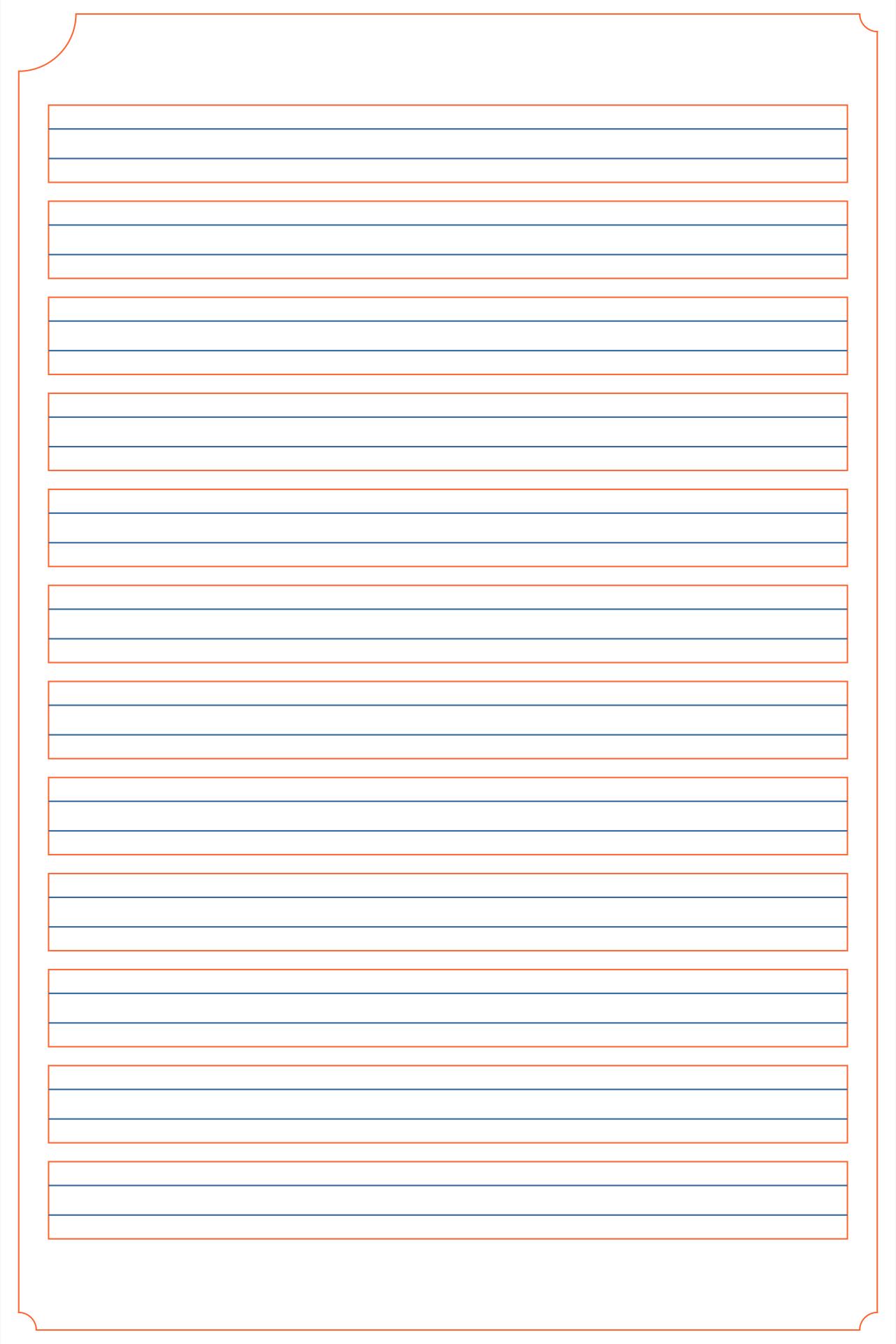 Free Blank Handwriting Worksheets Pdf Printable