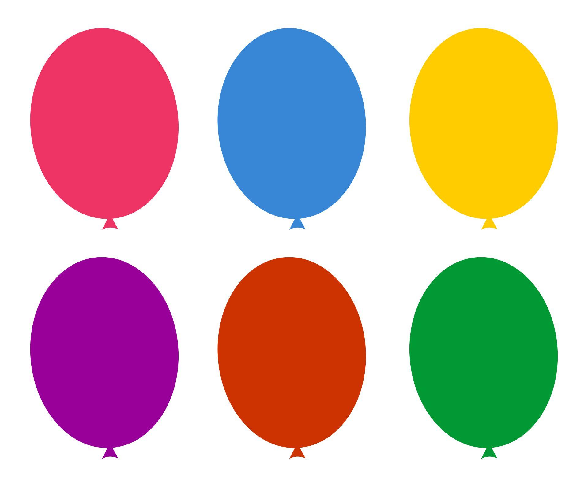 Free Printable Birthday Balloon Template