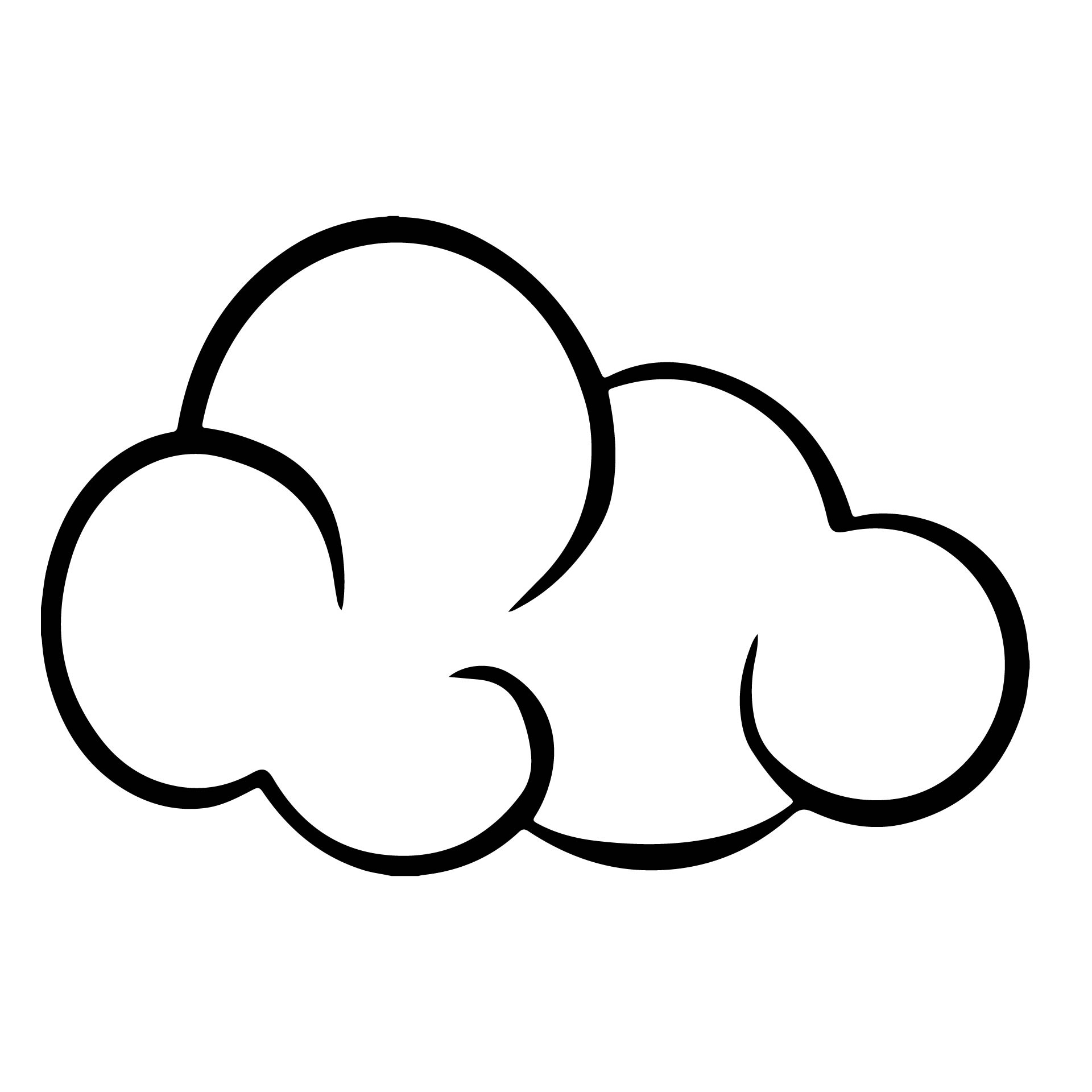 Free Printable Large Cloud Template