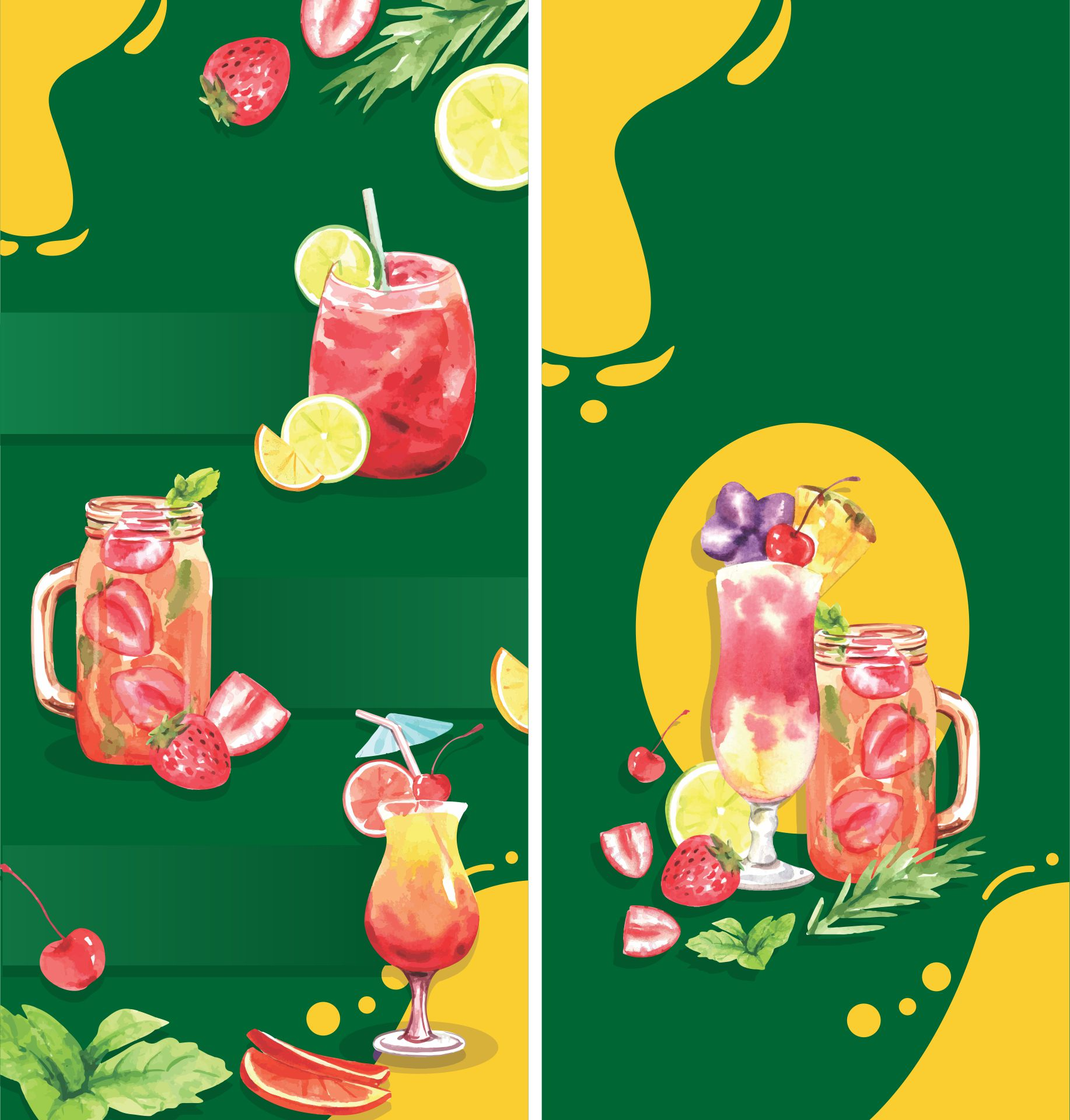 Fruits And Vegetables Brochure Design Template