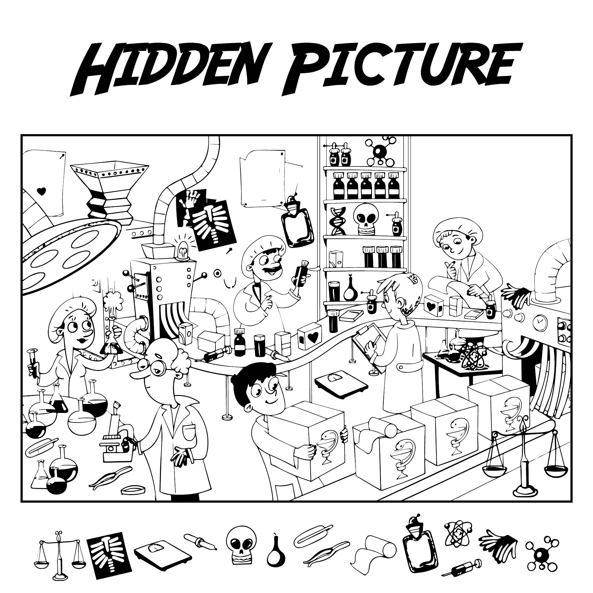 Highlights Hidden Pictures Printables For Adults