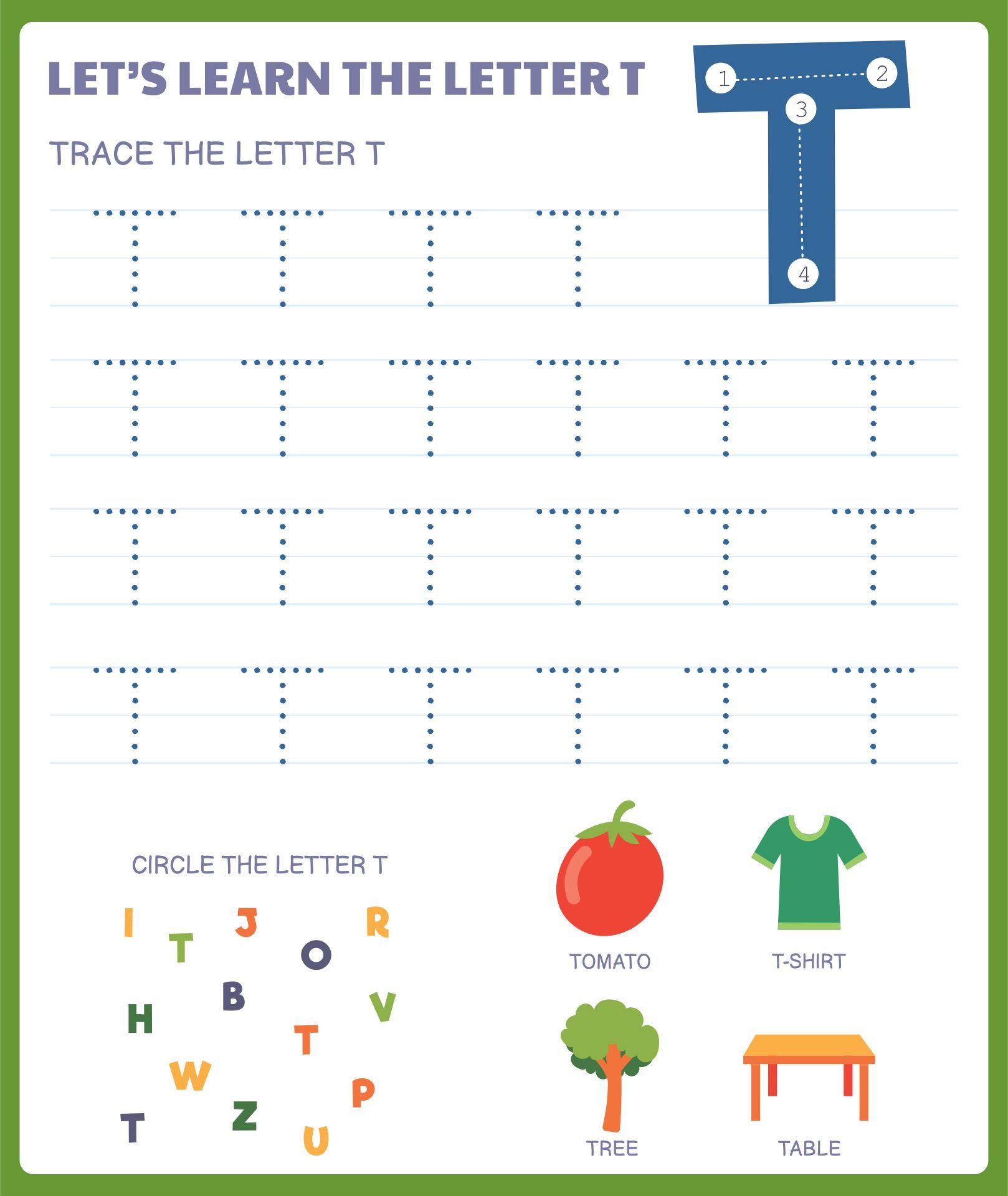 Letter T Printables For Preschoolers
