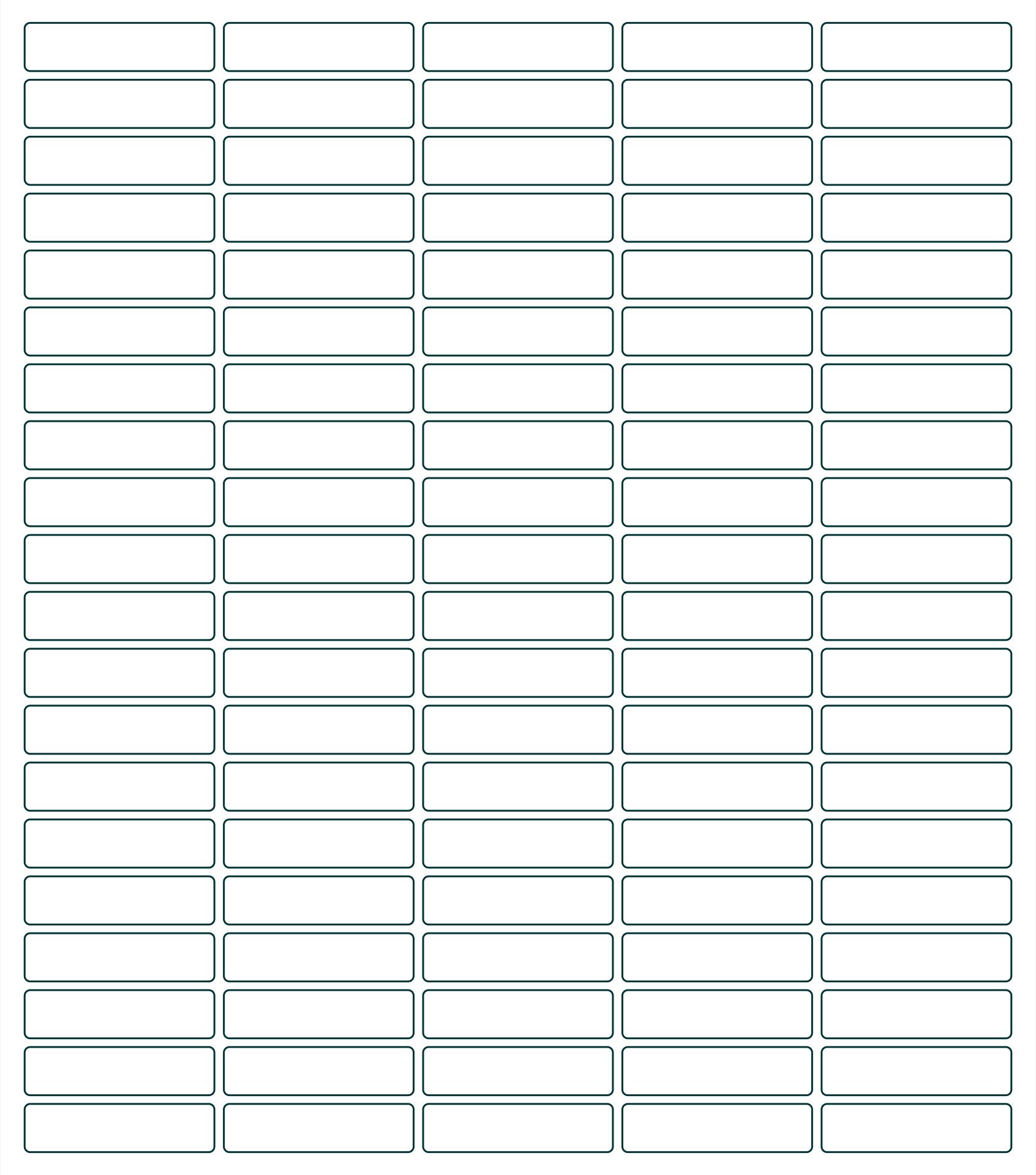 Pendaflex Printable Tab Inserts 5 Tab