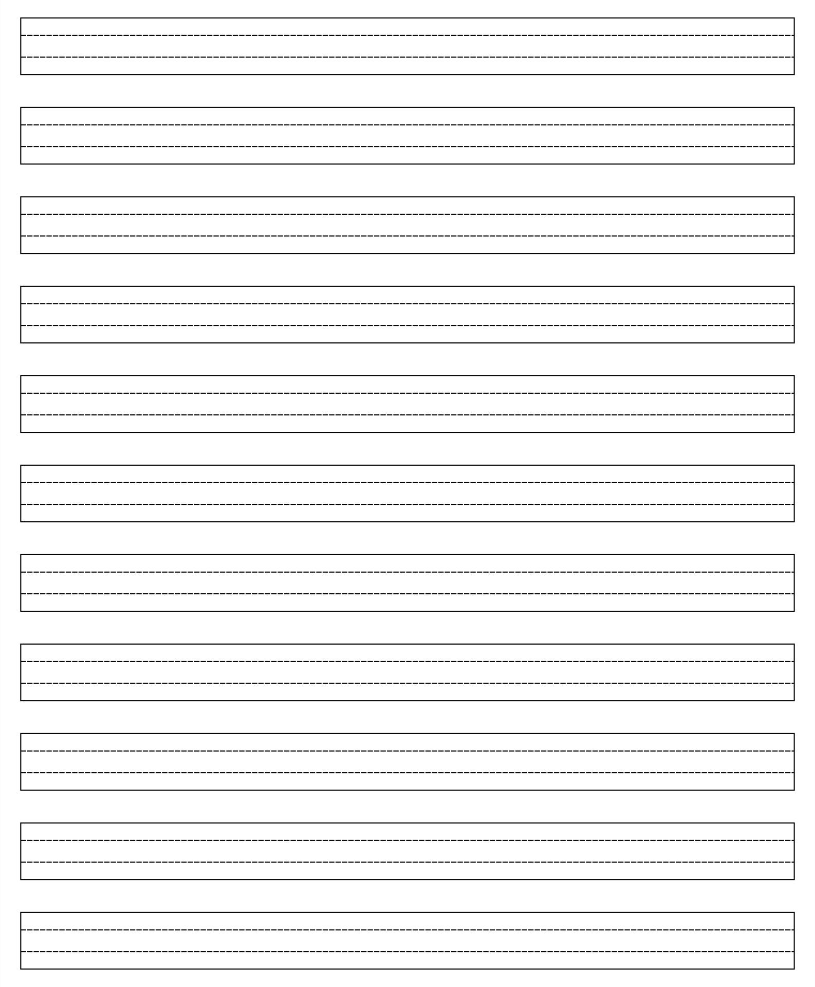 Printable 4 Line Page For English Writing Pdf