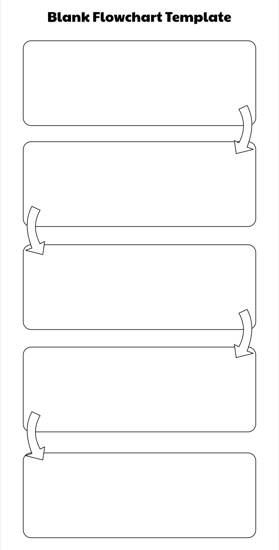 Printable Blank Flowchart Template