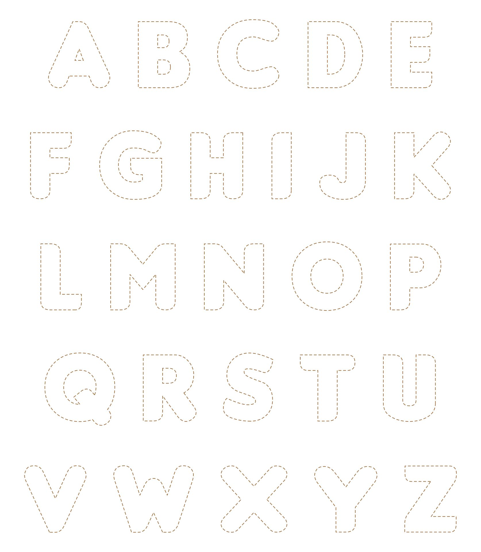 Printable Block Letters To Cut Out