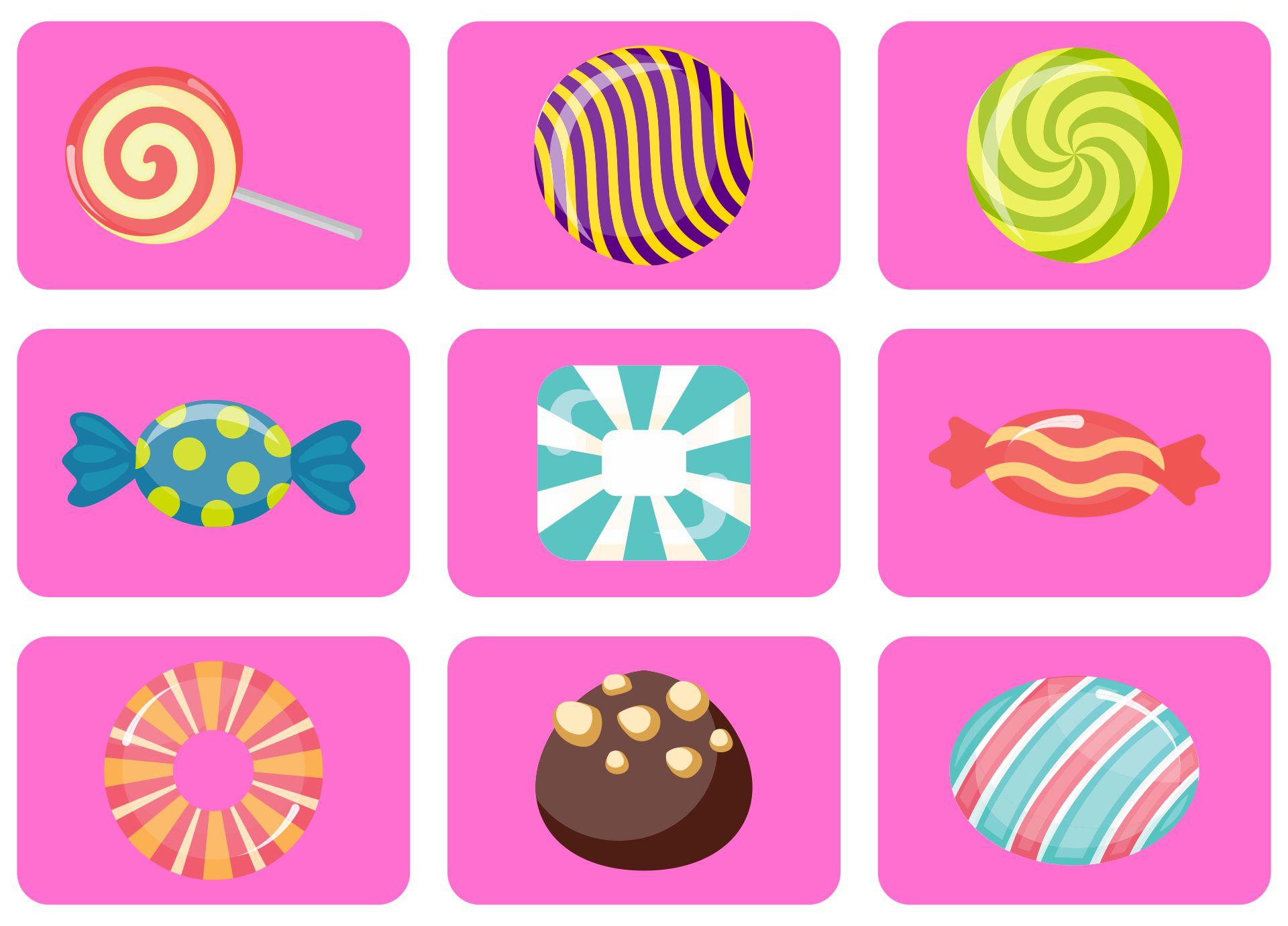 Printable Candyland Board Game Cards