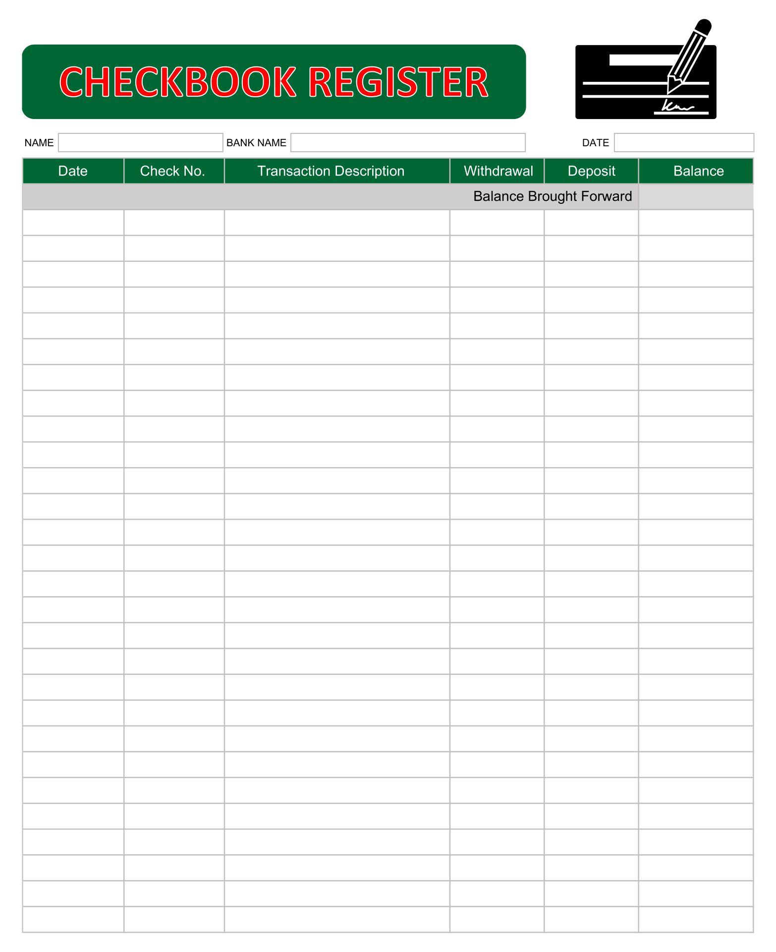 Printable Check Register Pdf Format