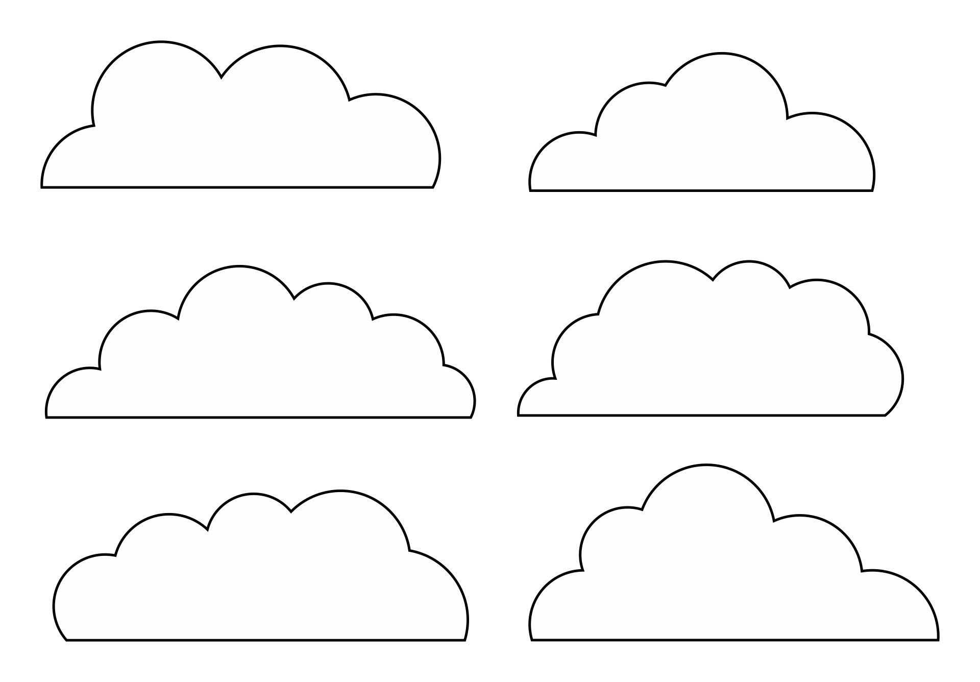 Printable Cloud Shapes