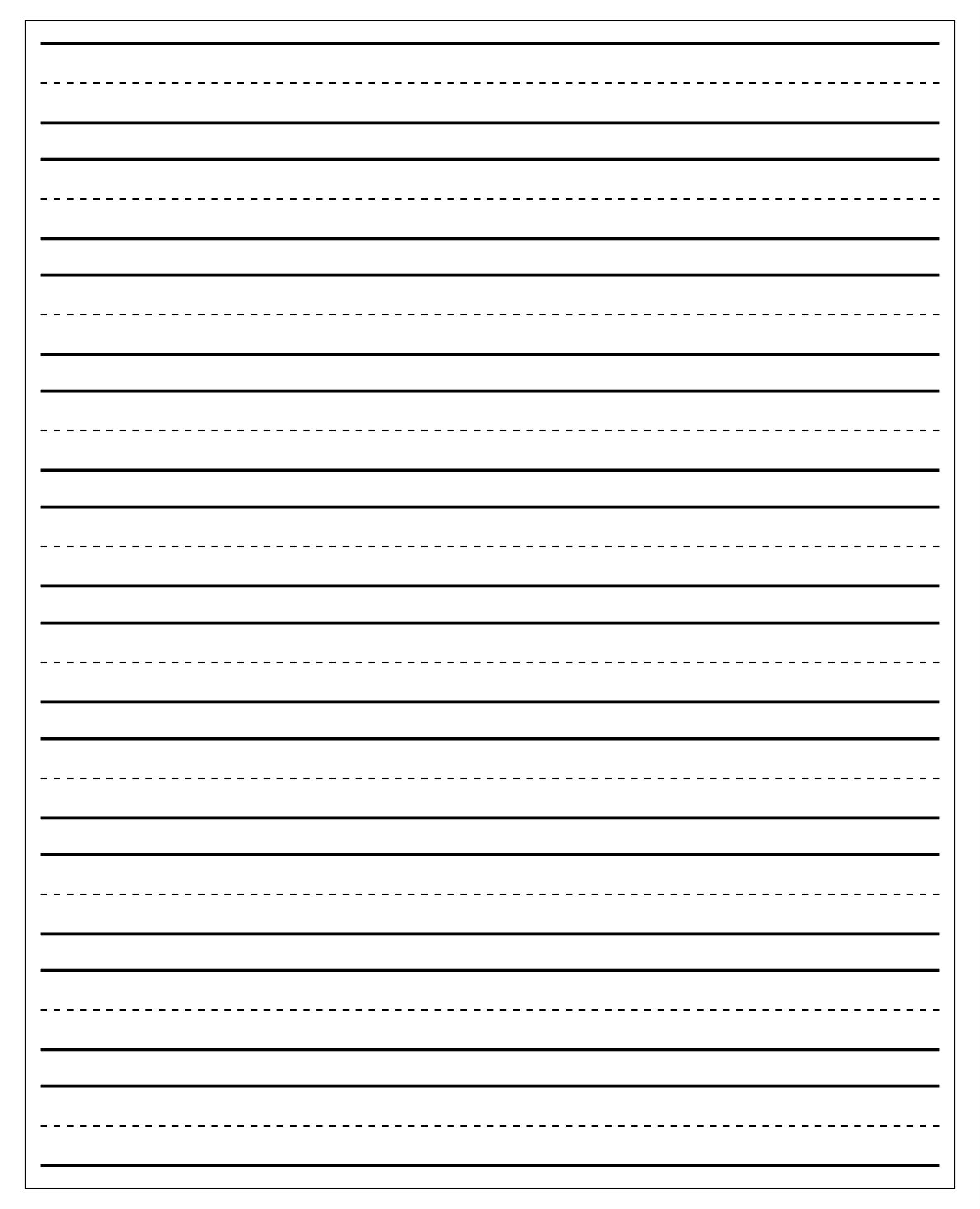Printable Editable Handwriting Paper