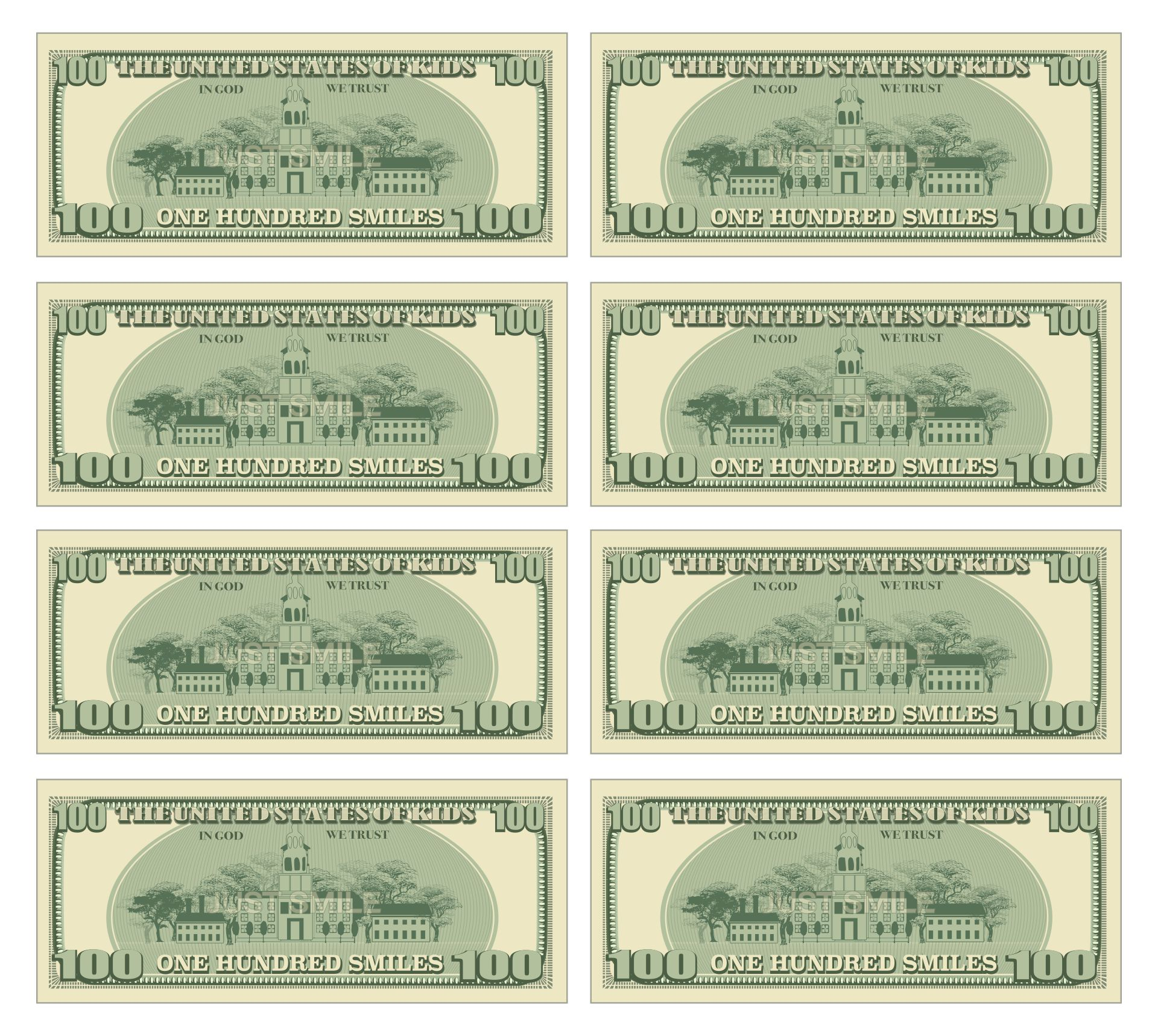 Printable Fake Money Actual Size Pdf