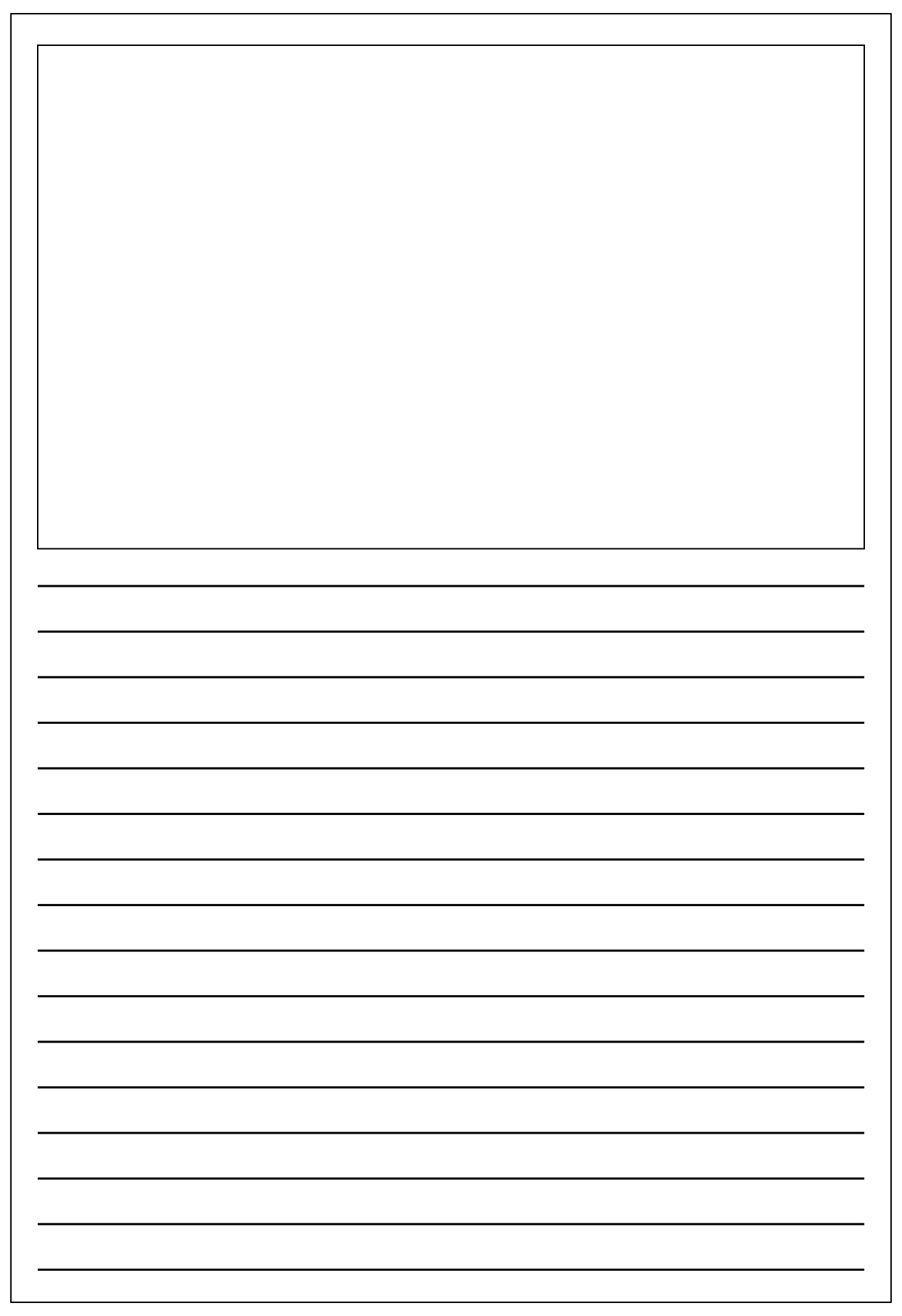 Printable Free Writing Paper With Picture Box Pdf