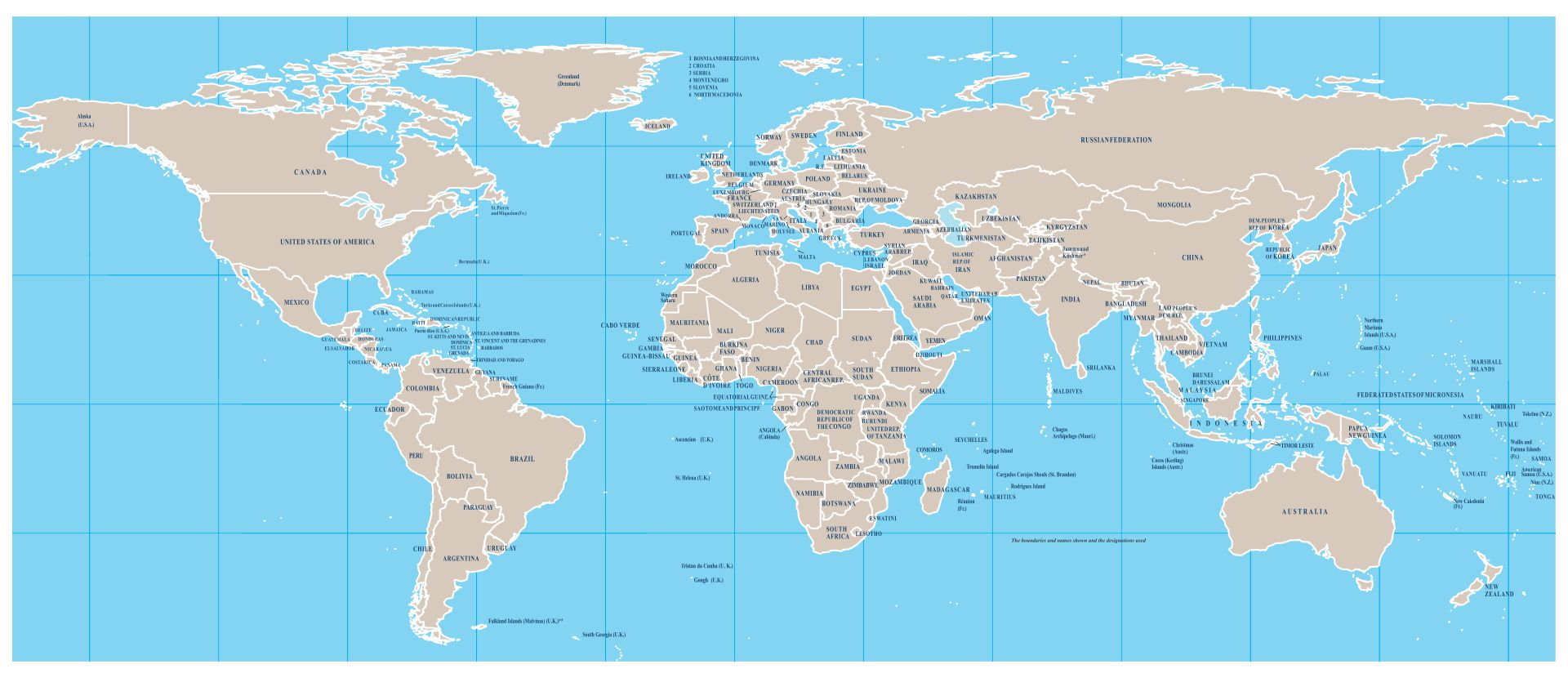 Printable High Resolution World Map With Country Names