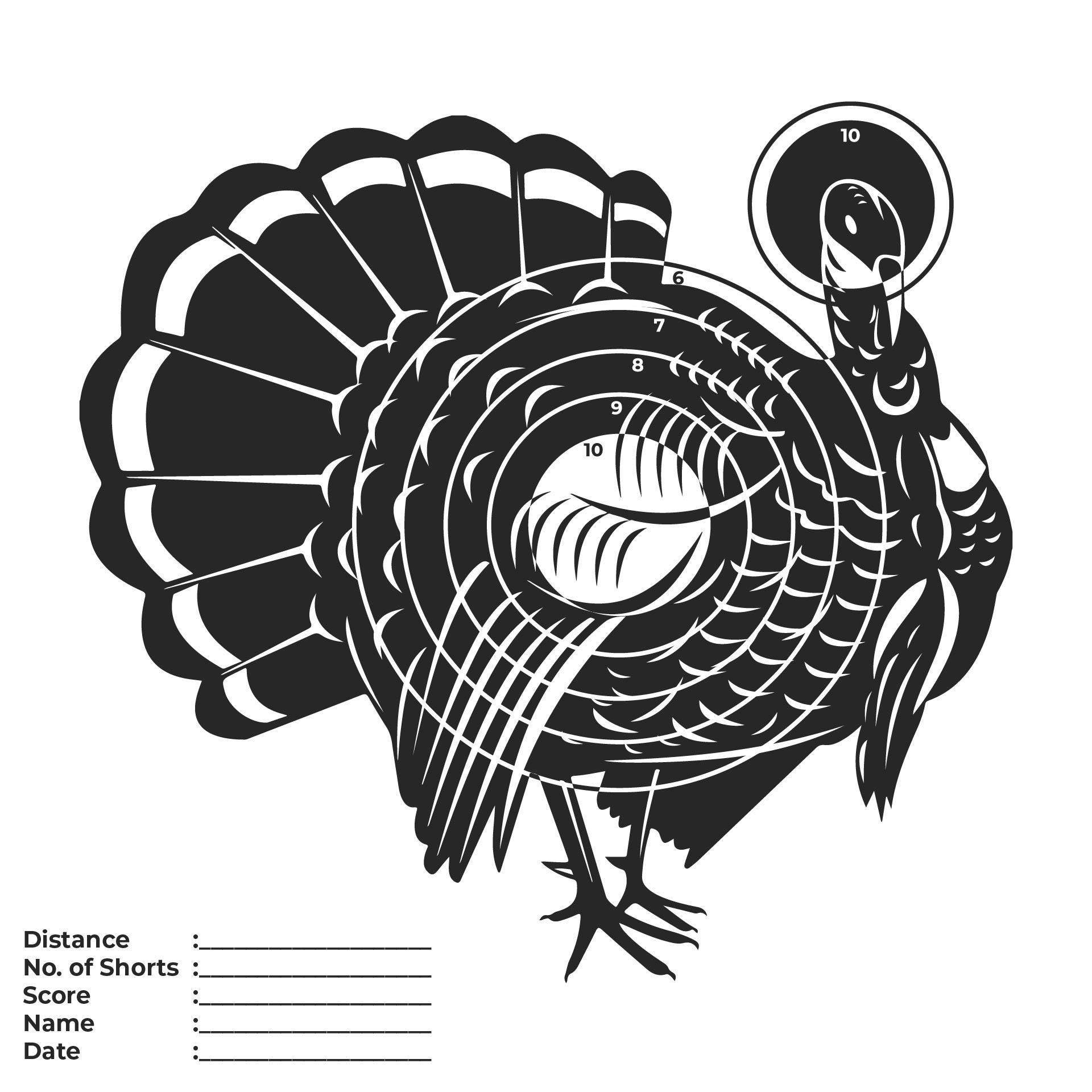 Printable Paper Turkey Targets