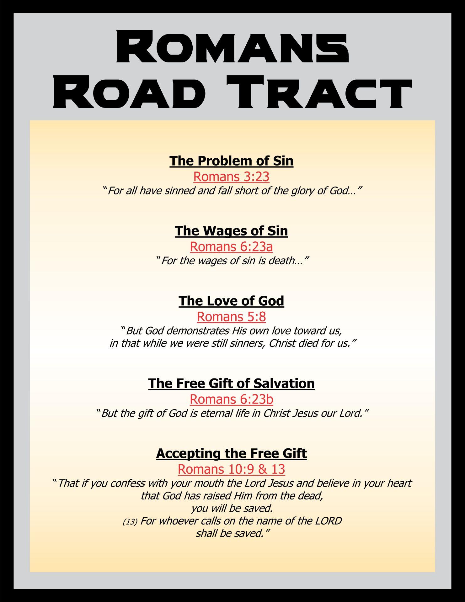Printable Romans Road To Salvation Ideas