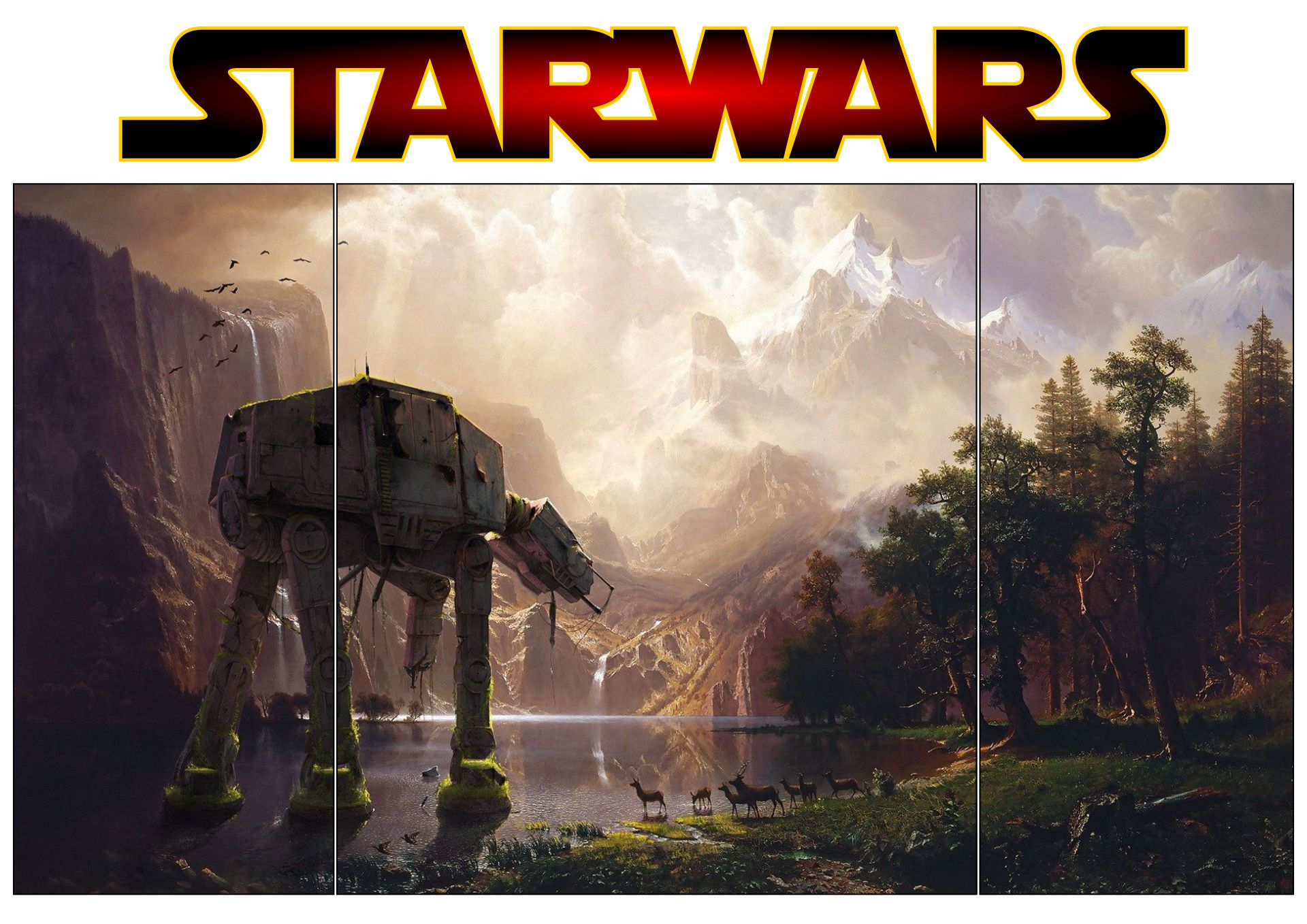 Printable Star Wars Diorama Backgrounds