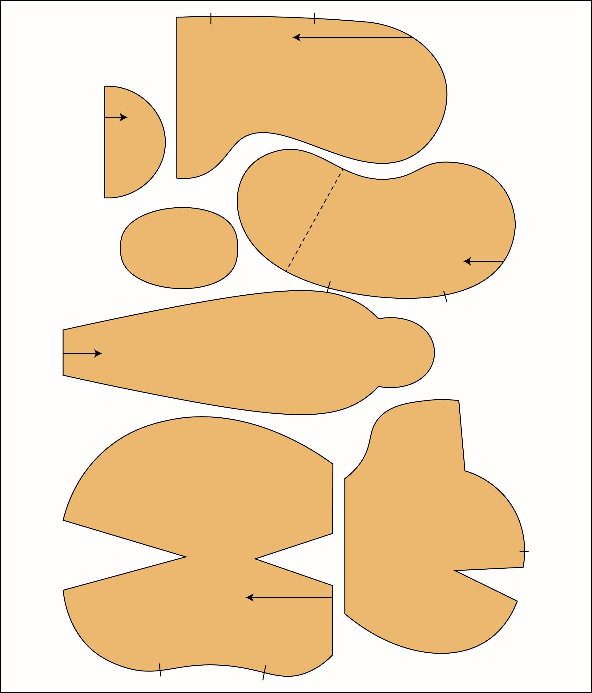 Printable Teddy Bear Clothing Patterns