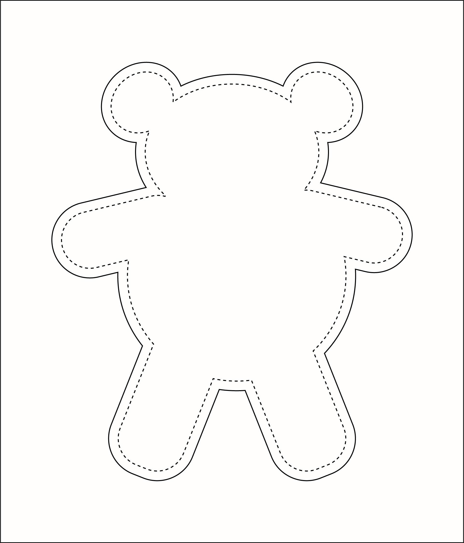 Printable Teddy Bear Sewing Pattern Easy