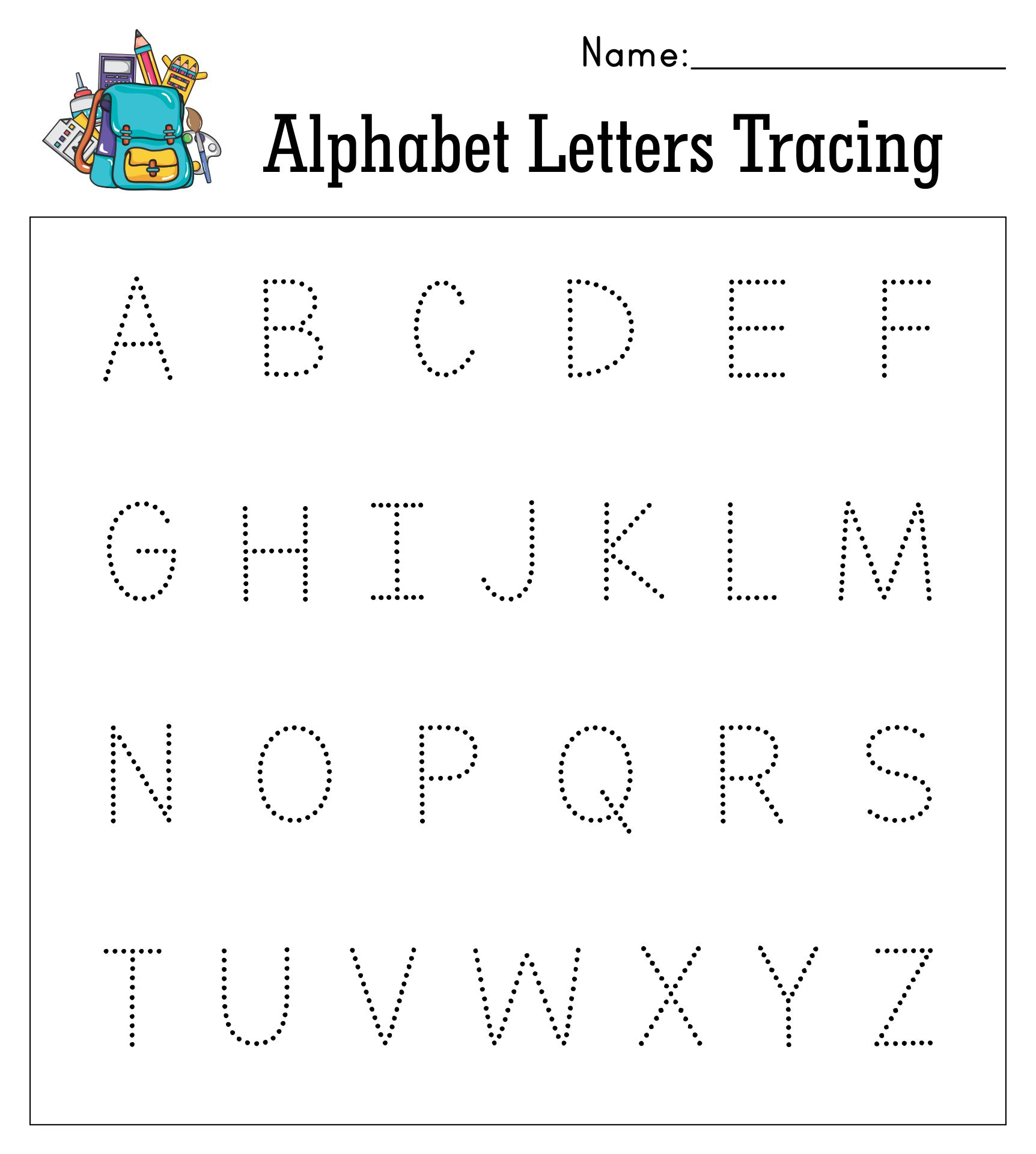 Printable Tracing Letters For Preschool
