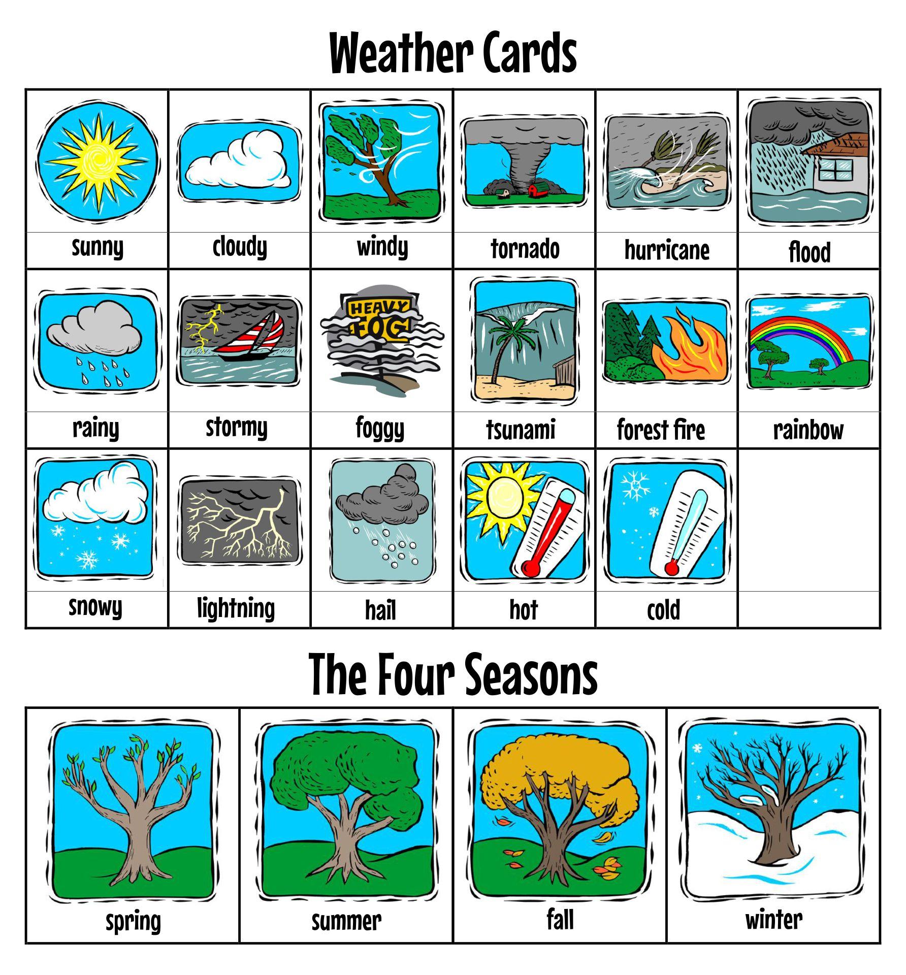 Season And Weather Worksheet Printables