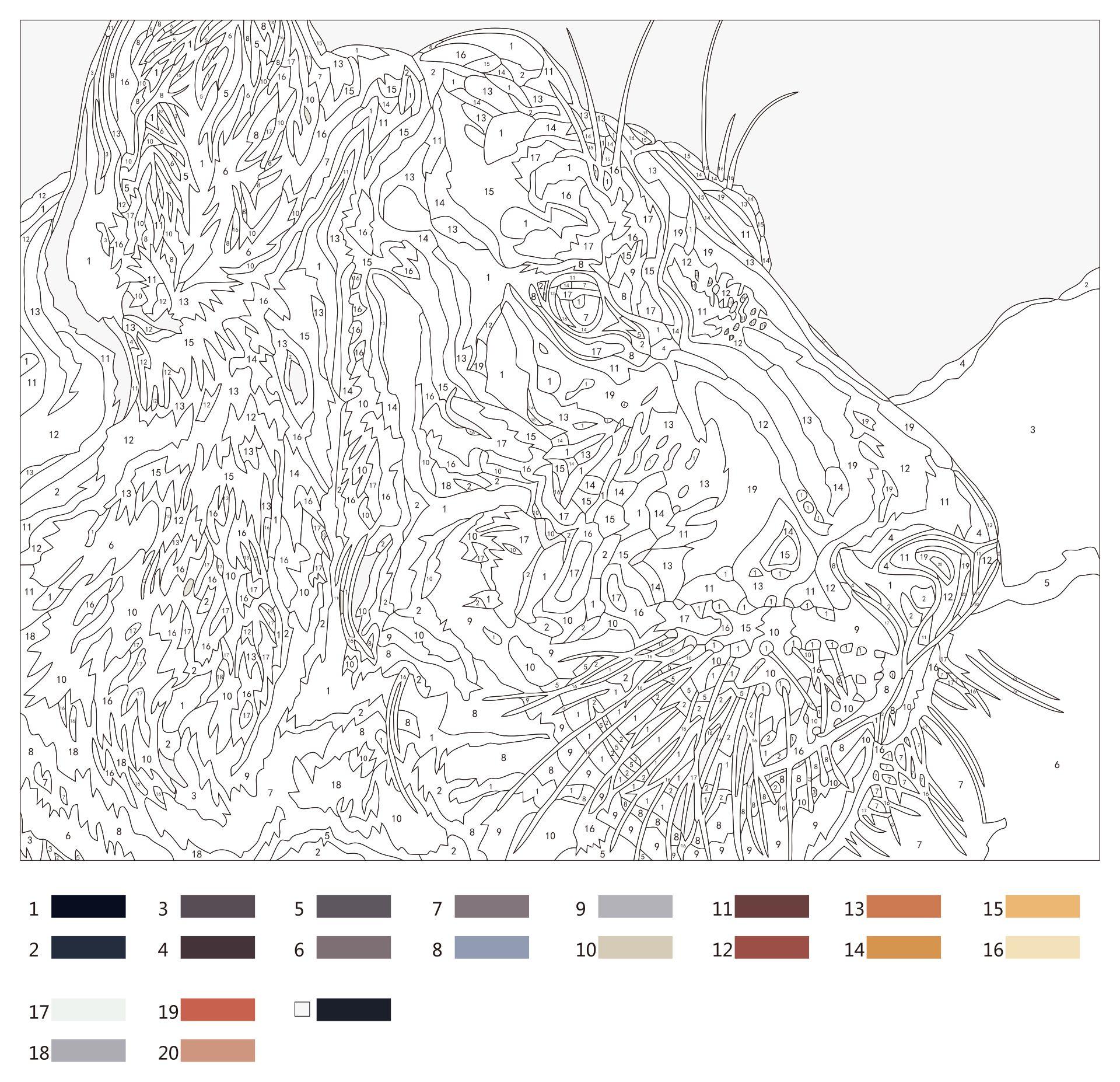 Super Hard Color By Number Printables