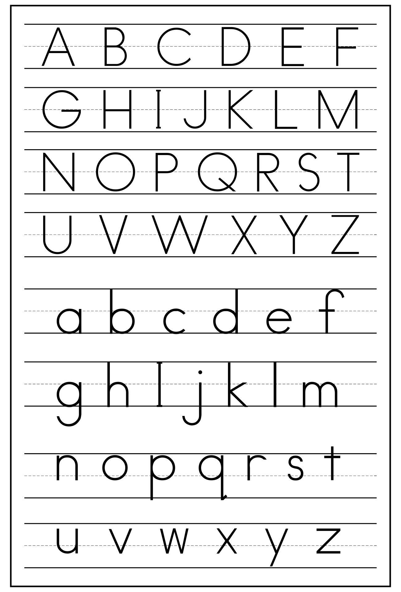 Zaner Bloser Handwriting Alphabet Chart